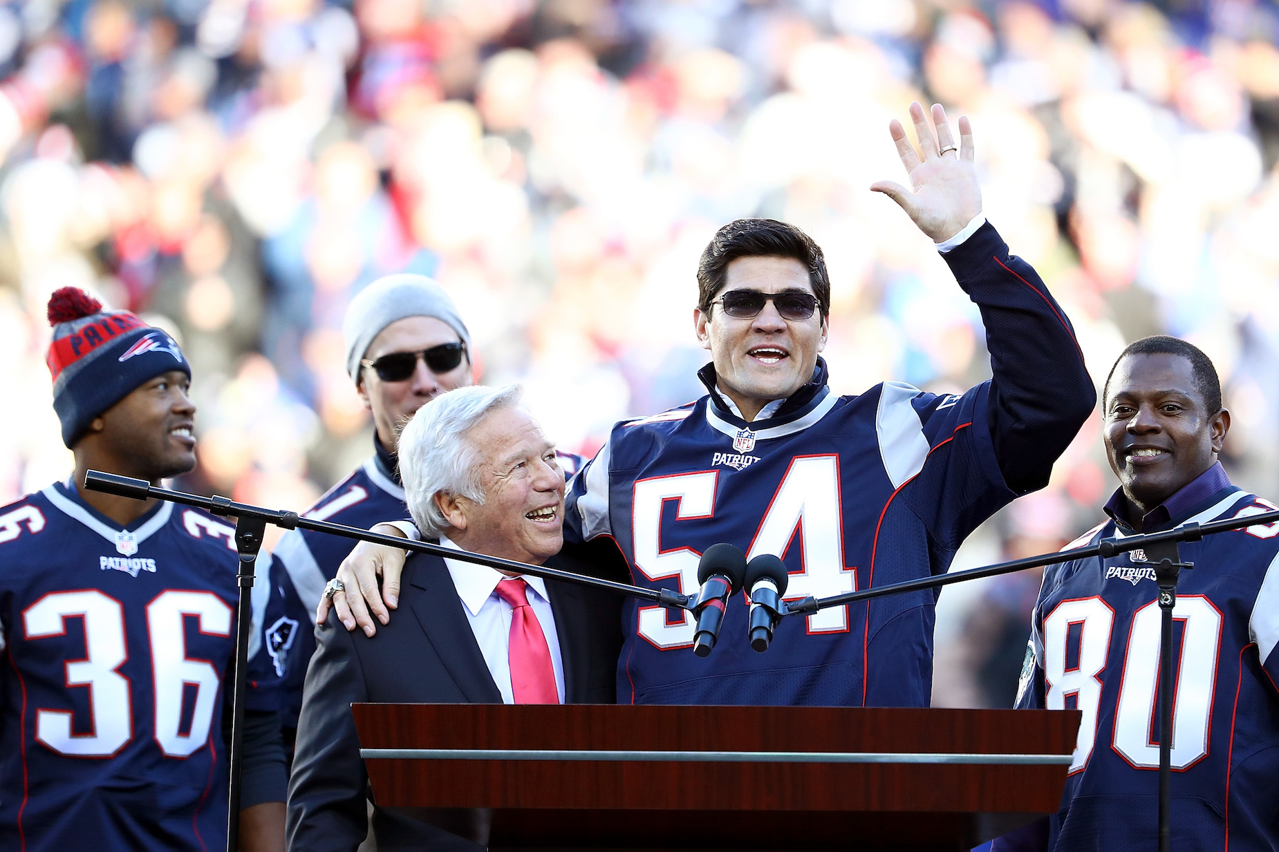 Tedy Bruschi is playing defense after appearing to criticize the New England Patriots.