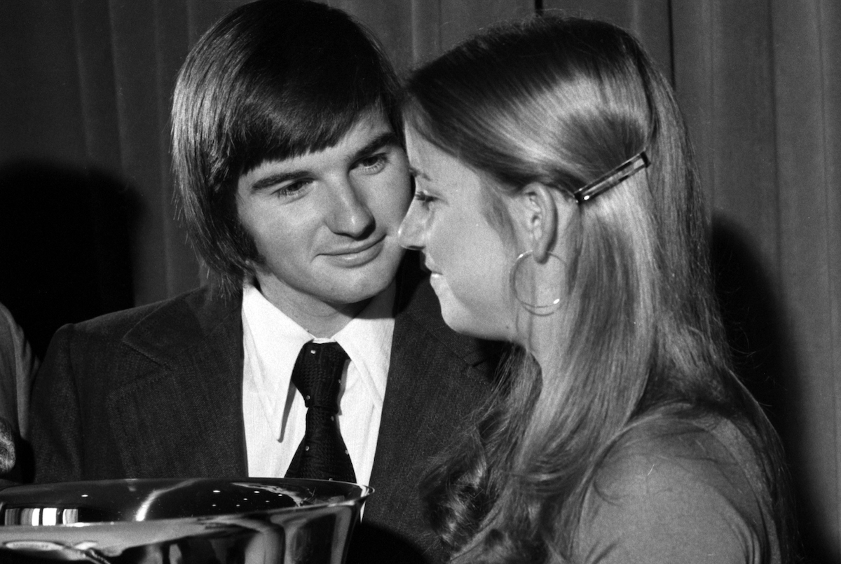 Tennis players and couple Jimmy Connors and Chris Evert in 1974