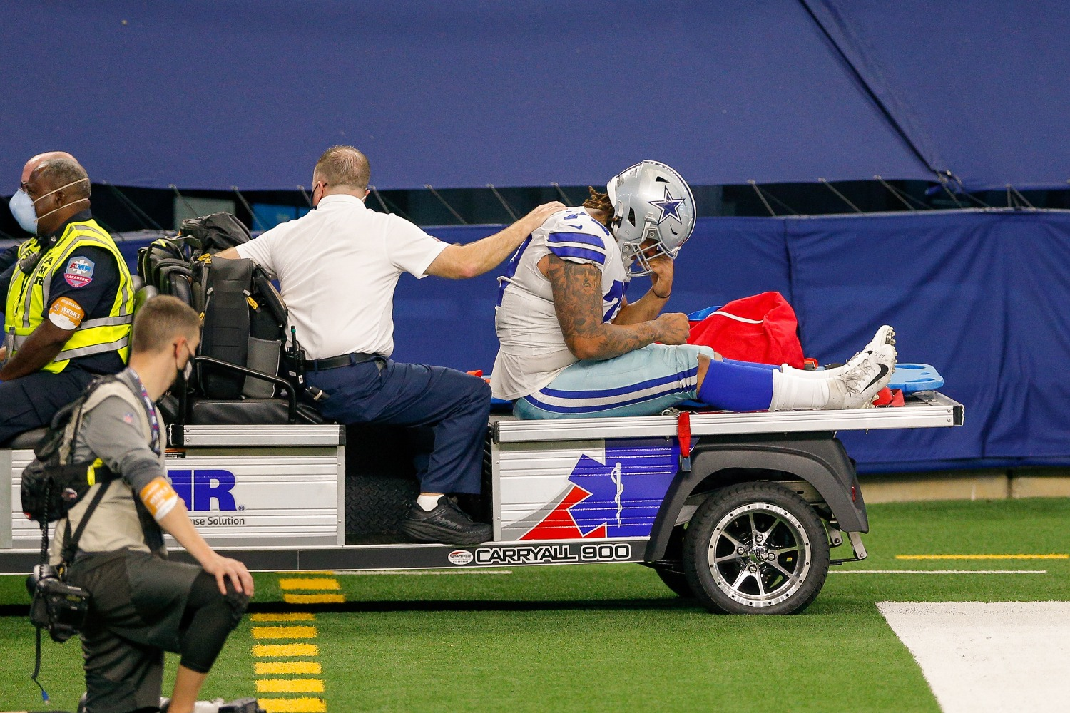 The Dallas Cowboys just suffered another devastating blow to their defense, as starting DT Trysten Hill tore his ACL on Sunday.