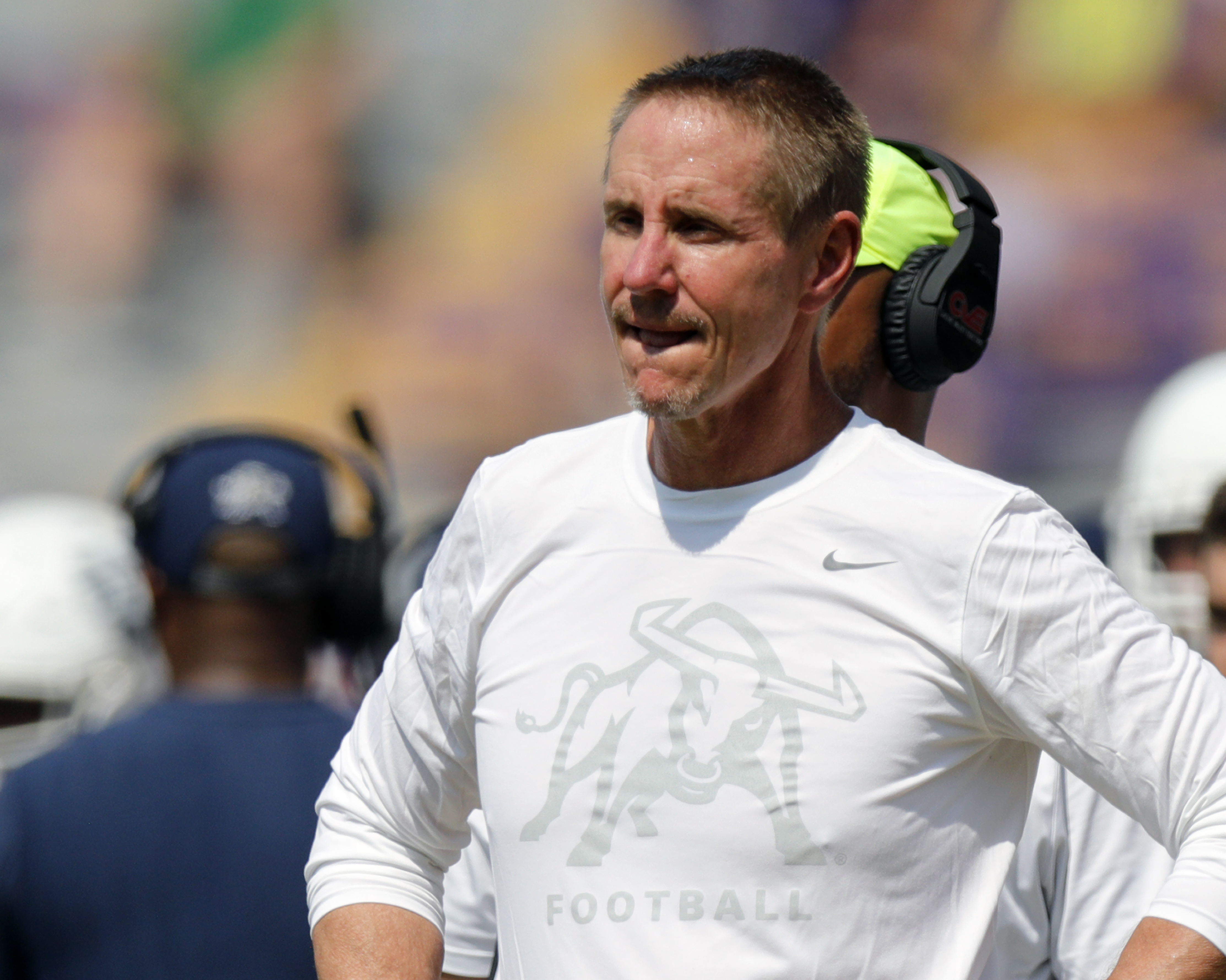 Gary Anderson coaches the Utah State Aggies