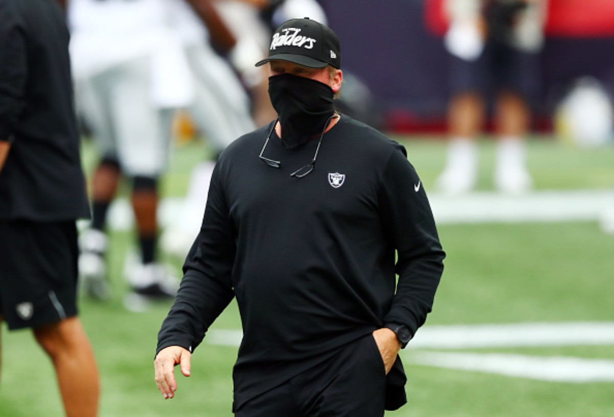 Jon Gruden made sure to address his team regarding the event where some players were seen without a mask on