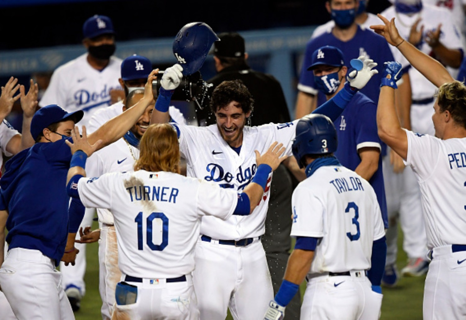 The Los Angeles Dodgers set a postseason record during the 2020 NLCS