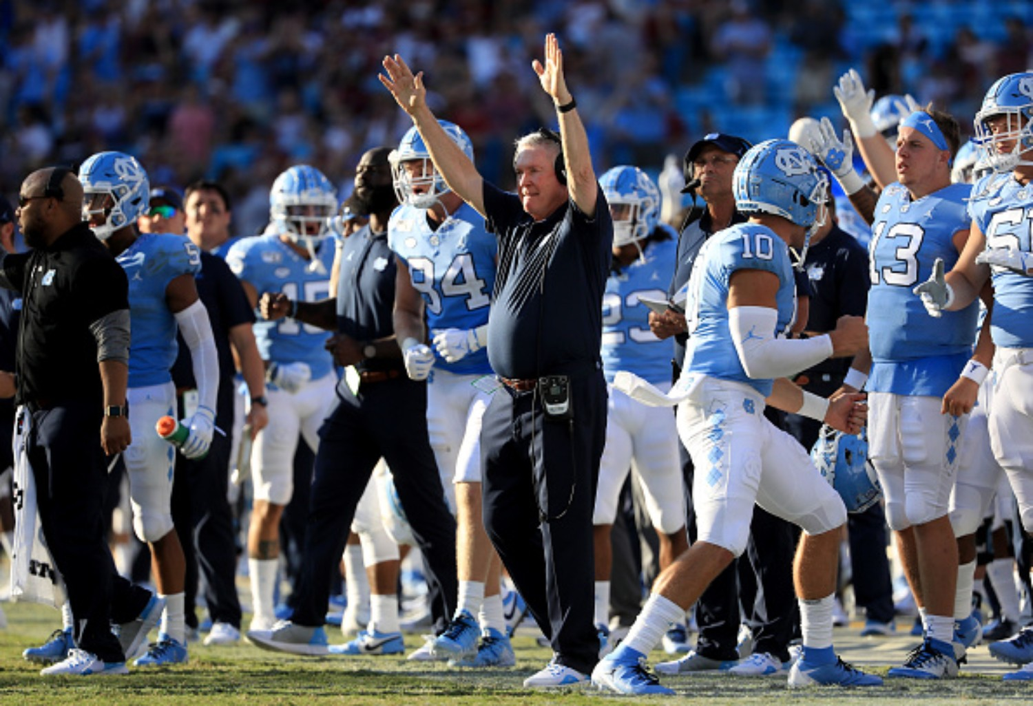 North Carolina's football team is ranked No. 5 in the country