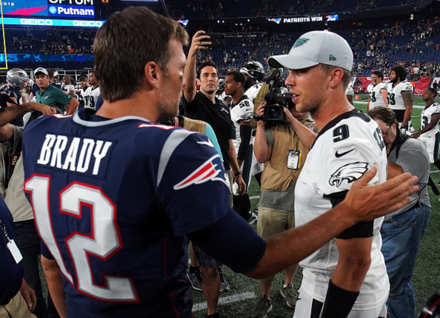 Tom Brady and Nick Foles have history playing against each other