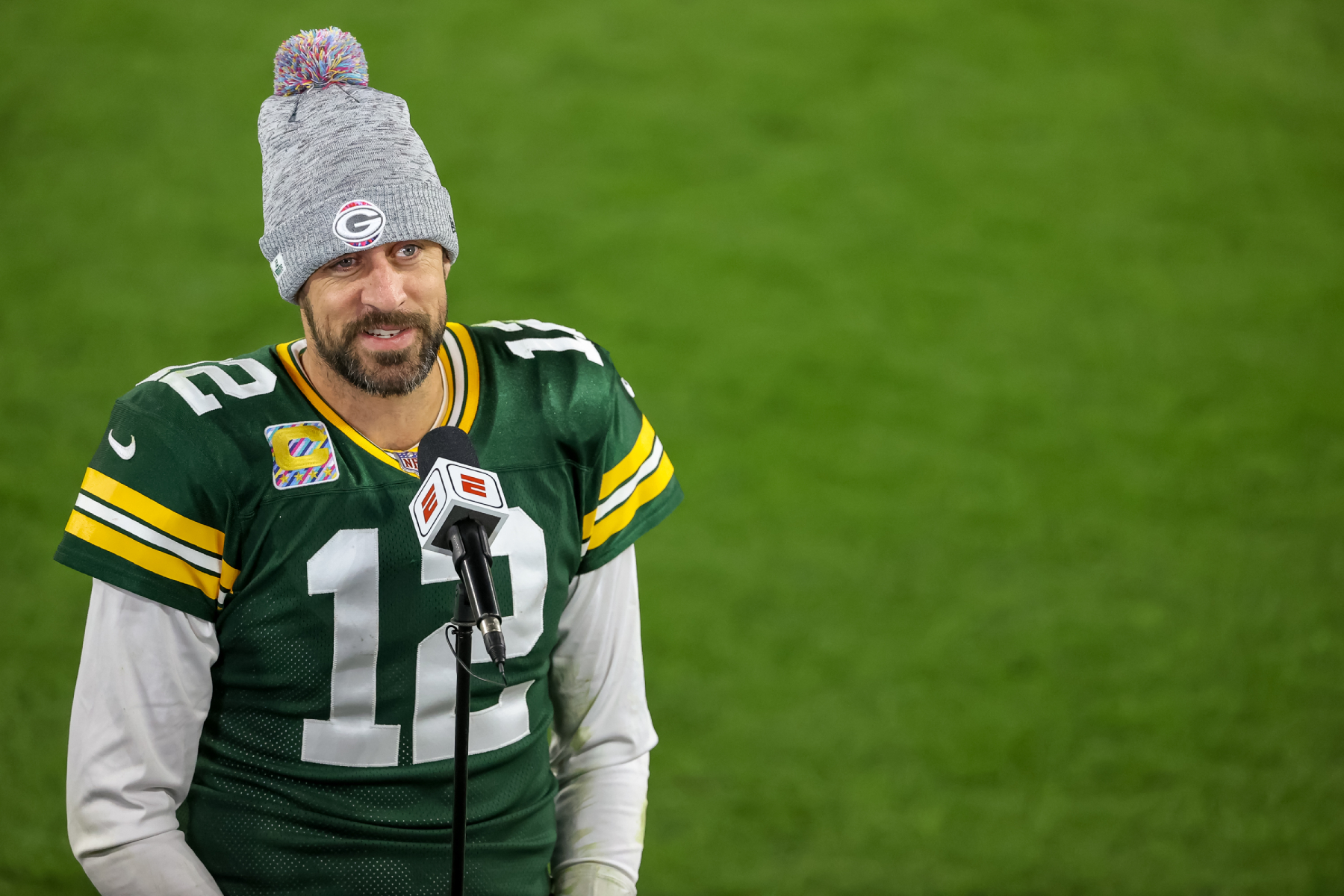 Aaron Rodgers would love to have more weapons. In fact, he tried recruiting a future Hall of Famer to the Packers in Calvin Johnson.