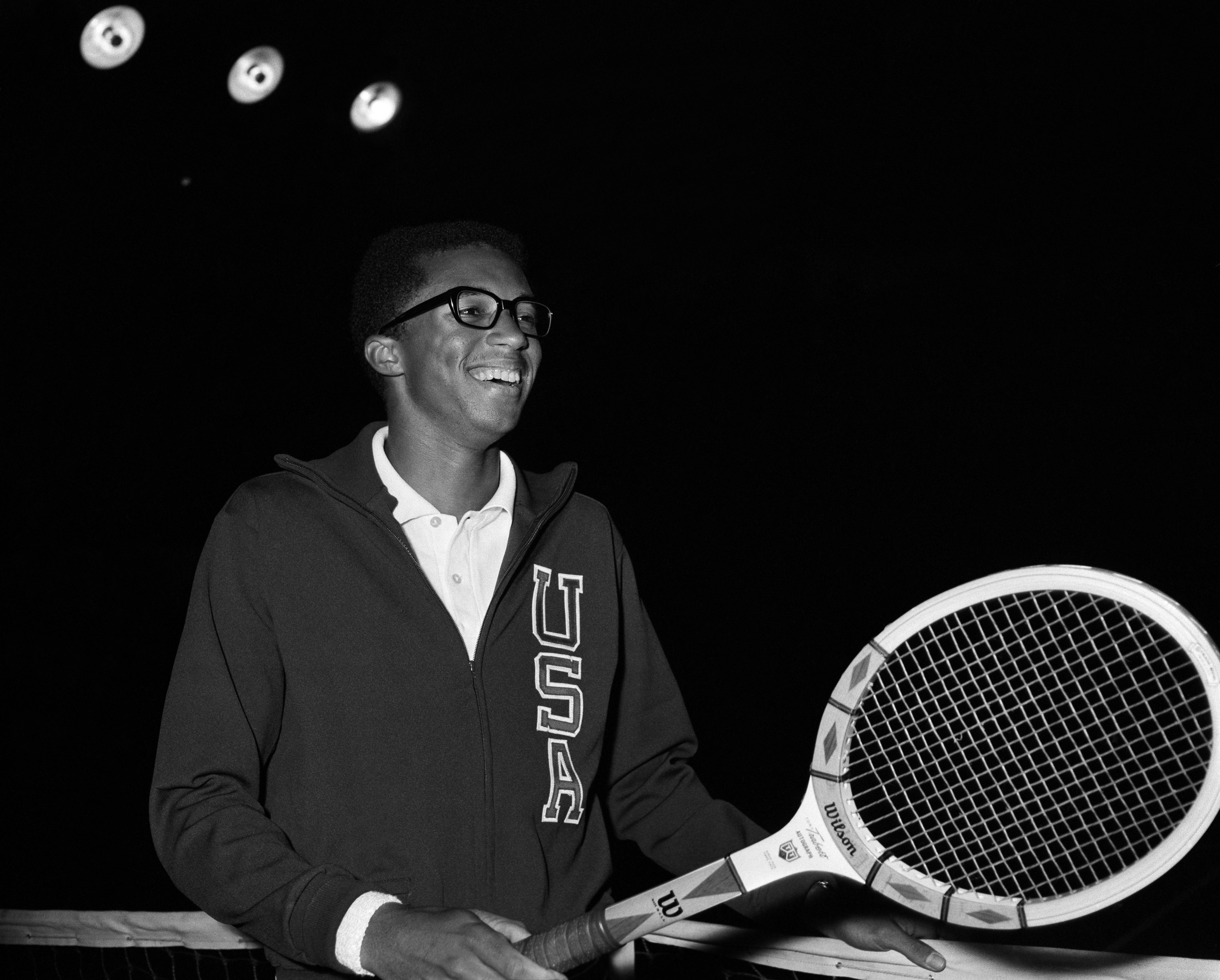 Tennis player Arthur Ashe