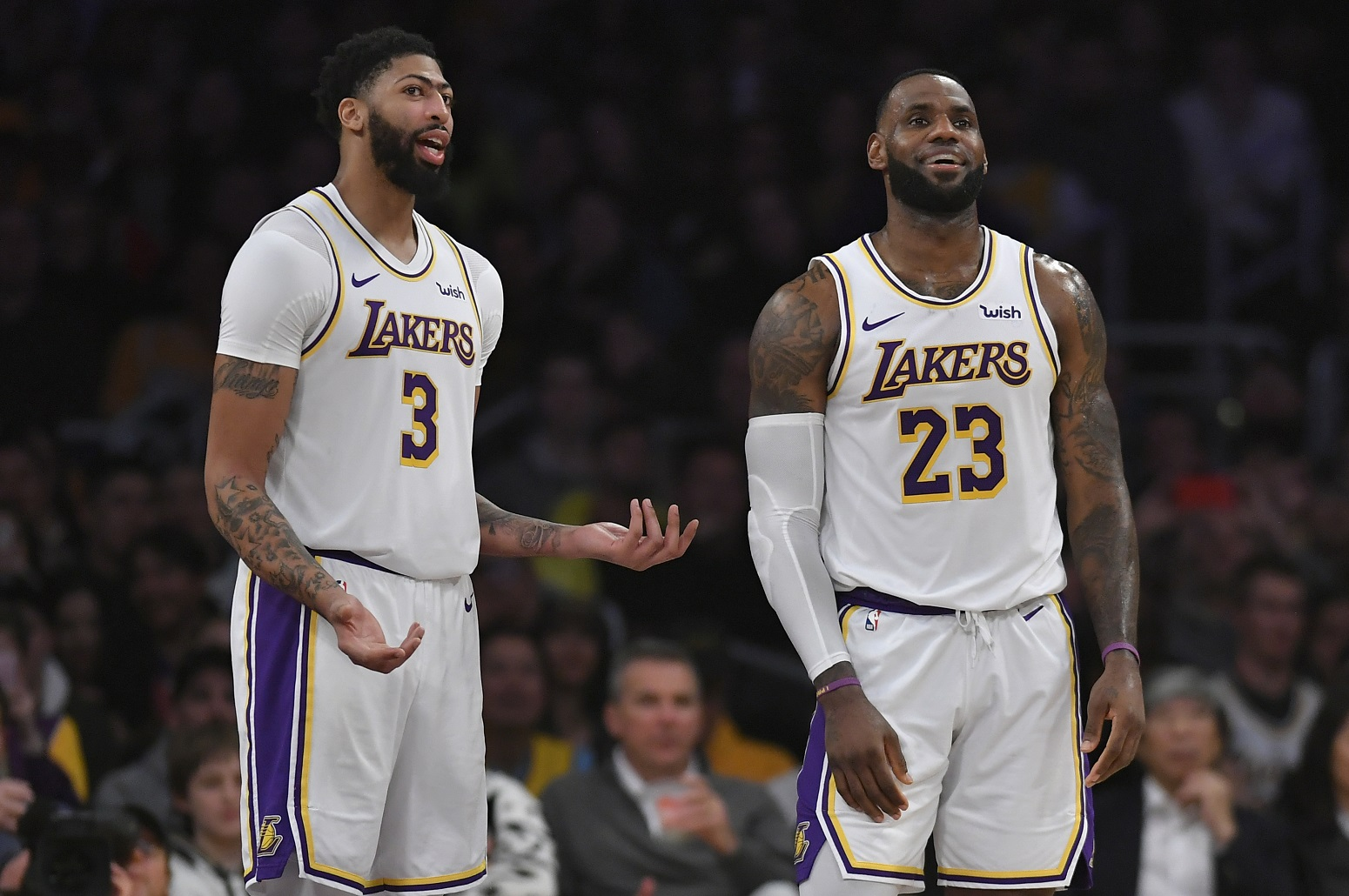 Anthony Davis LeBron James rumors Lakers