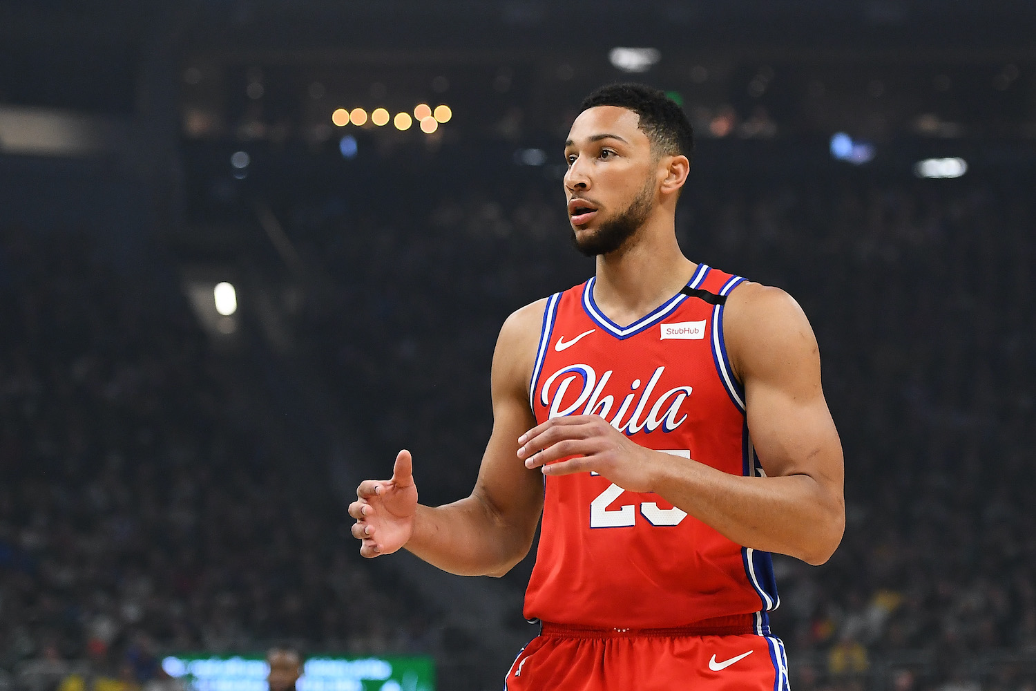 Ben Simmons made a bet with a 76ers executive years ago, and now he's cashing in the bet in an eye-catching way.