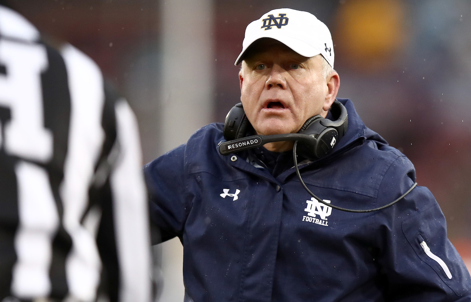 Brian Kelly of the Notre Dame Fighting Irish
