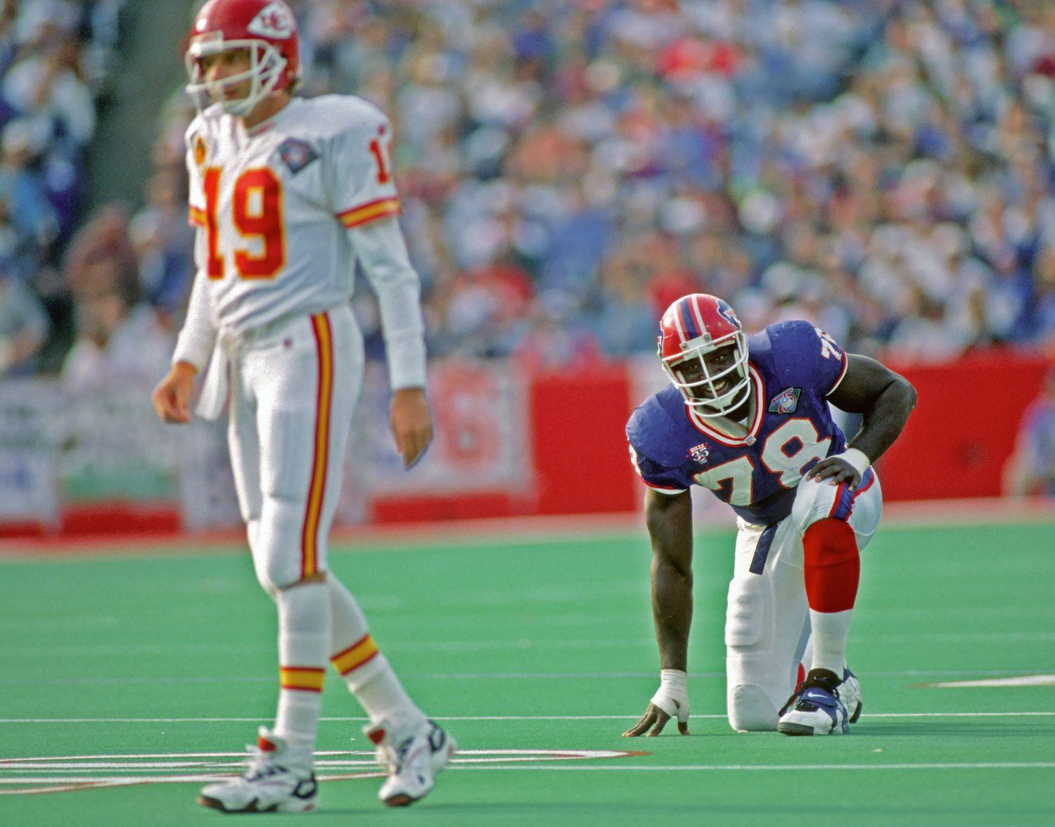 Bruce Smith has the most sacks in NFL history with 200 quarterback takedowns in 279 career games.
