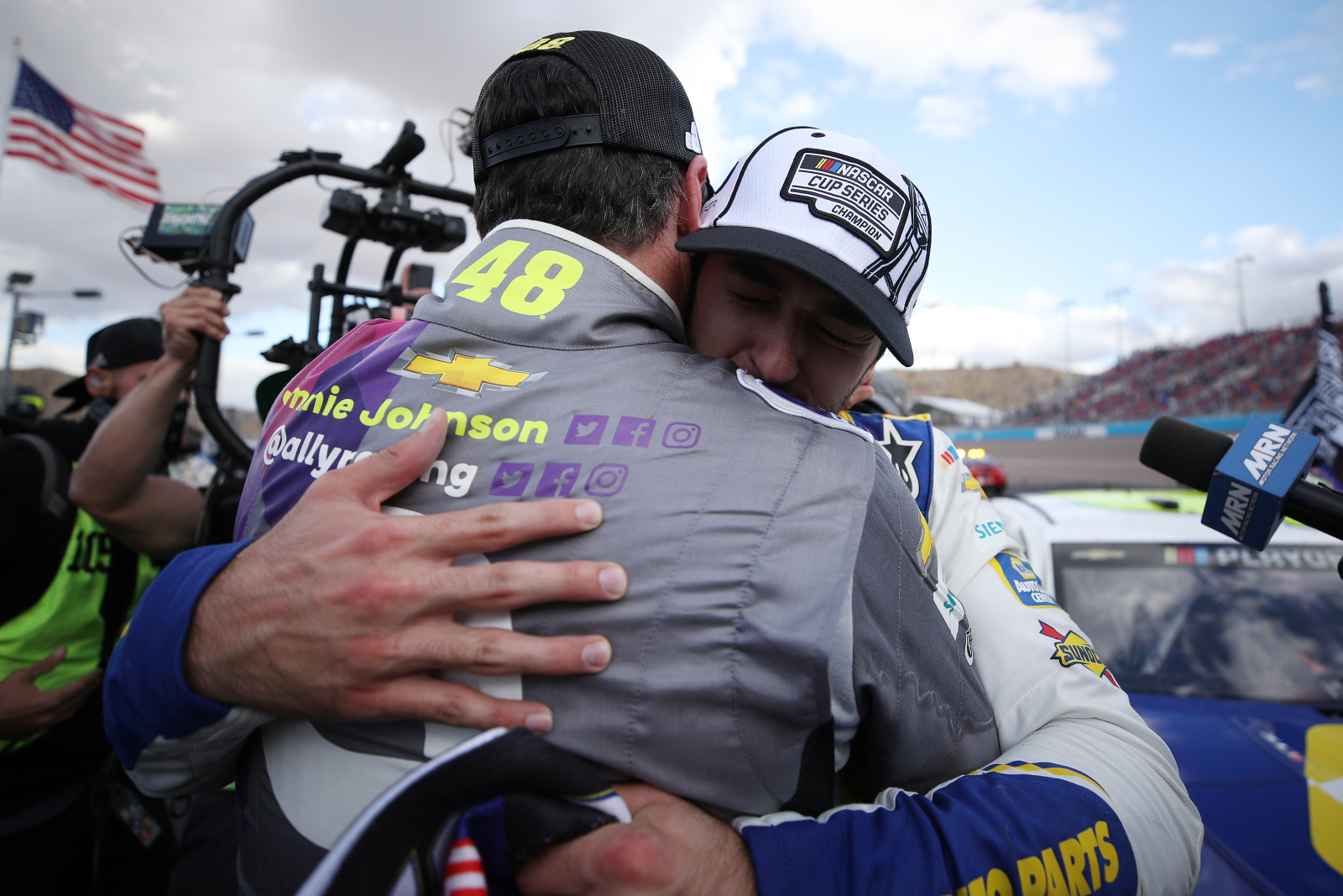 Jimmie Johnson is a NASCAR legend while Chase Elliott is a young NASCAR star. The two drivers will be linked forever, though.