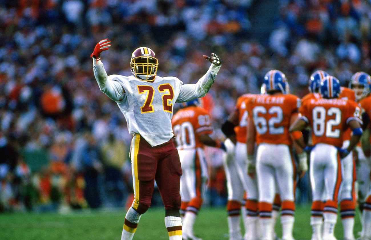 Dexter Manley was a force for the Washington Redskins in the 1980s.
