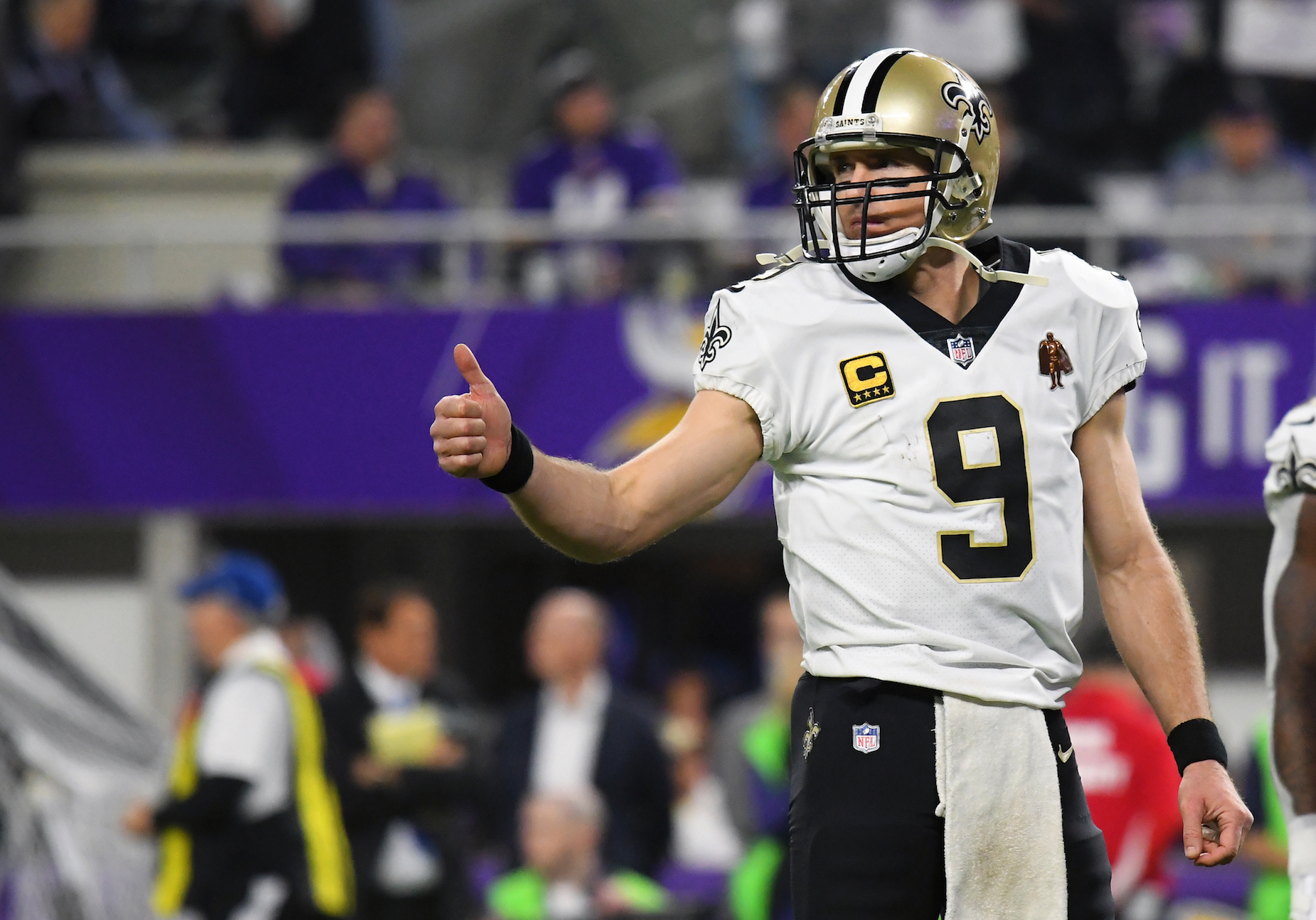 While Drew Brees will miss some time with his latest injury, the New Orleans Saints quarterback believes he'l be back in no time.
