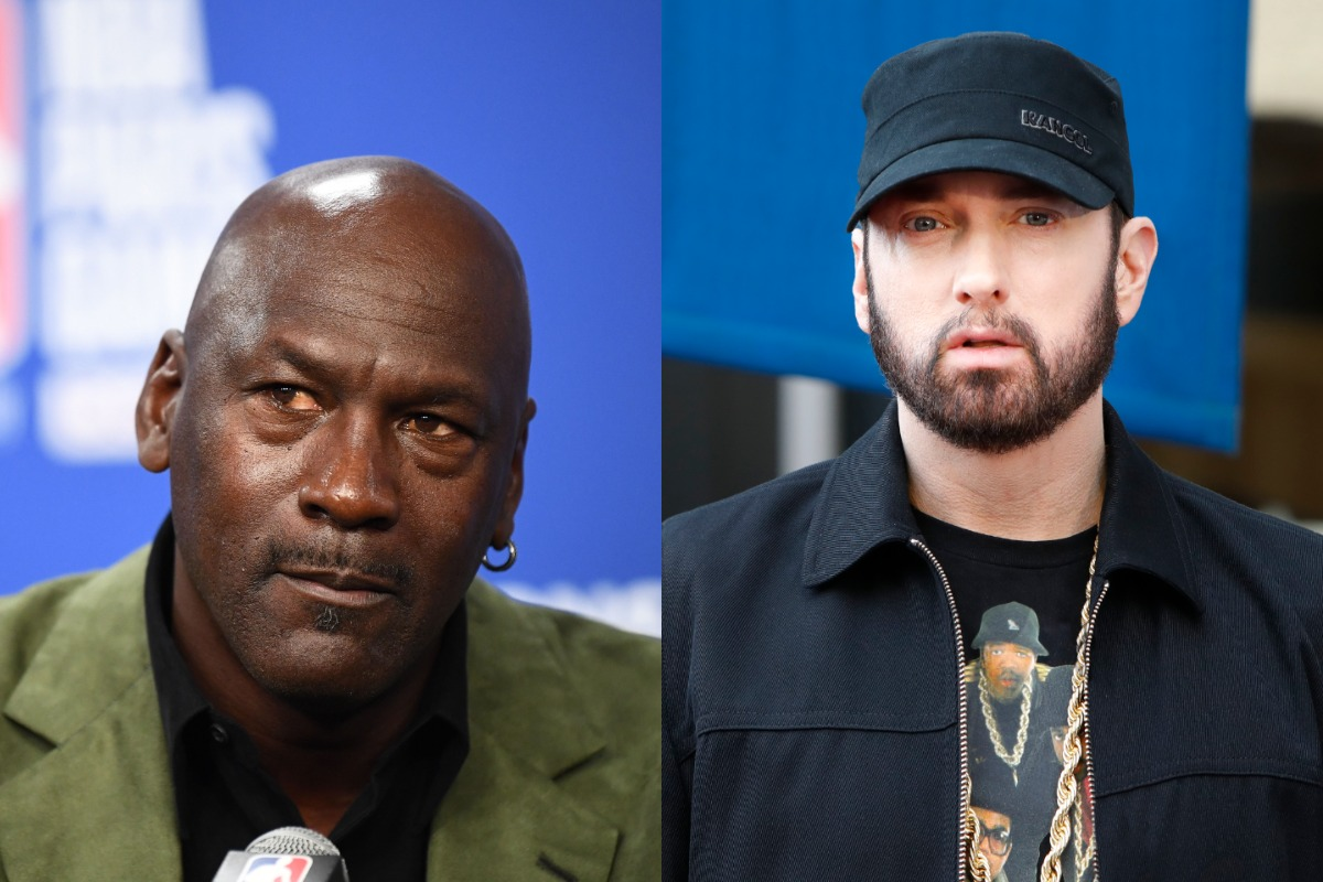 Legendary rapper Eminem once arranged to do business with NBA icon Michael Jordan. Eminem's joke about dunking on Jordan nearly ruined the deal.