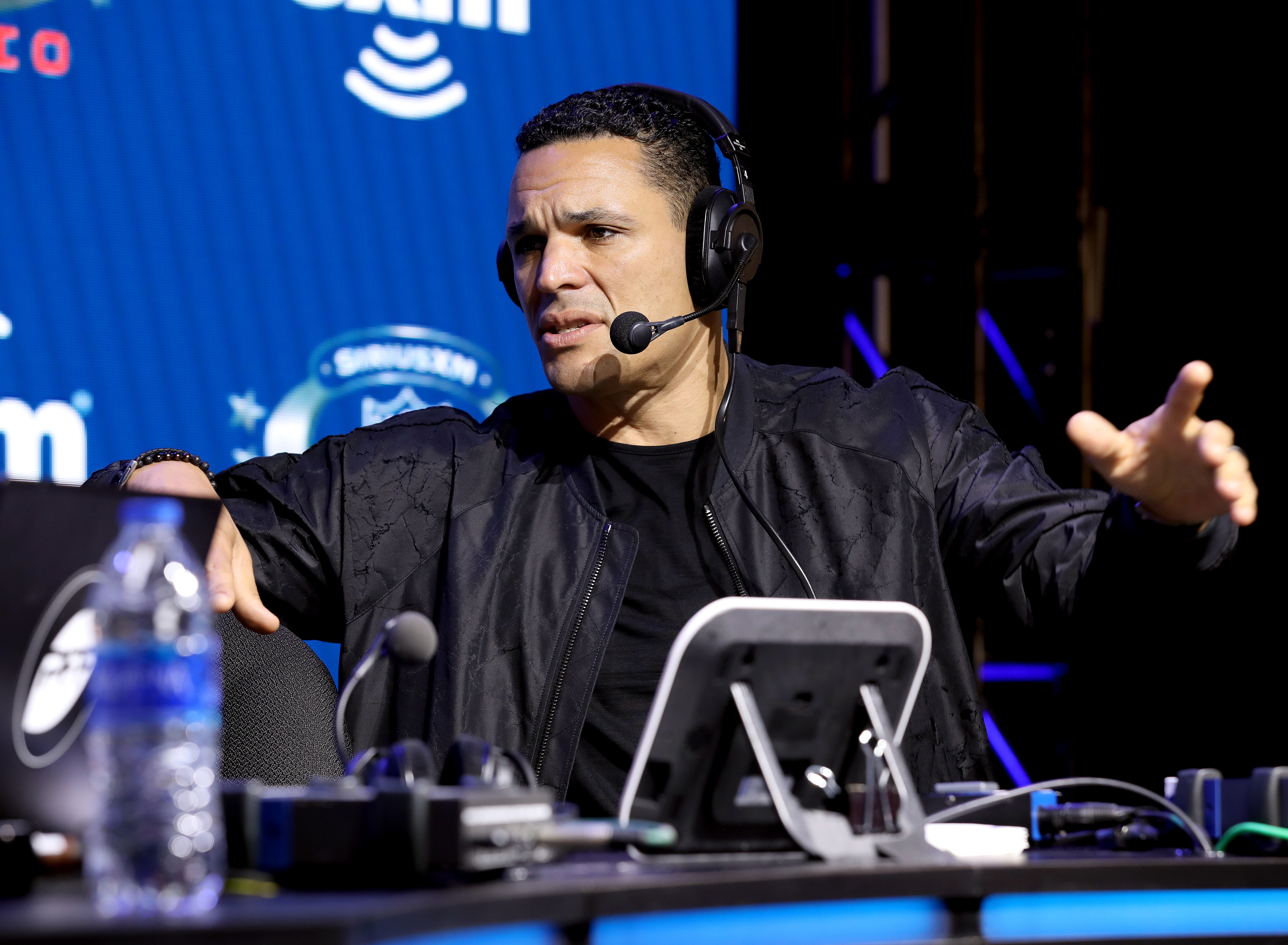 Former NFL player Tony Gonzalez speaks onstage