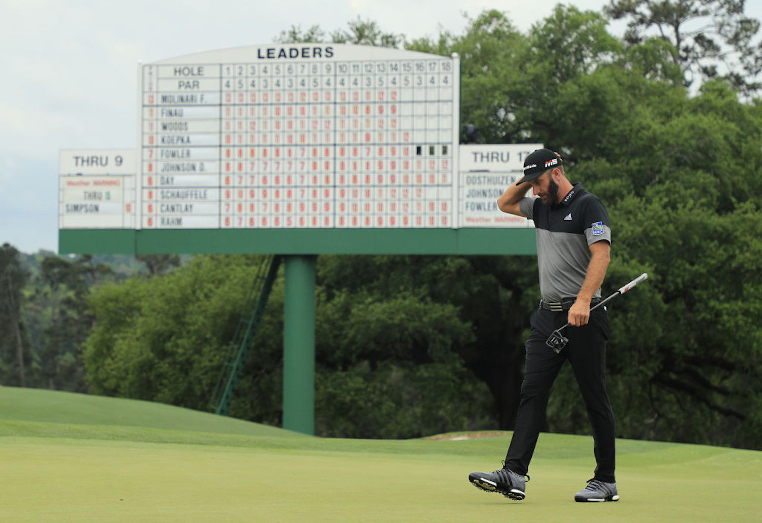 Dustin Johnson hasn't played since the U.S. Open because of a positive COVID-19 test, but he's back on the course just in time for The Masters.