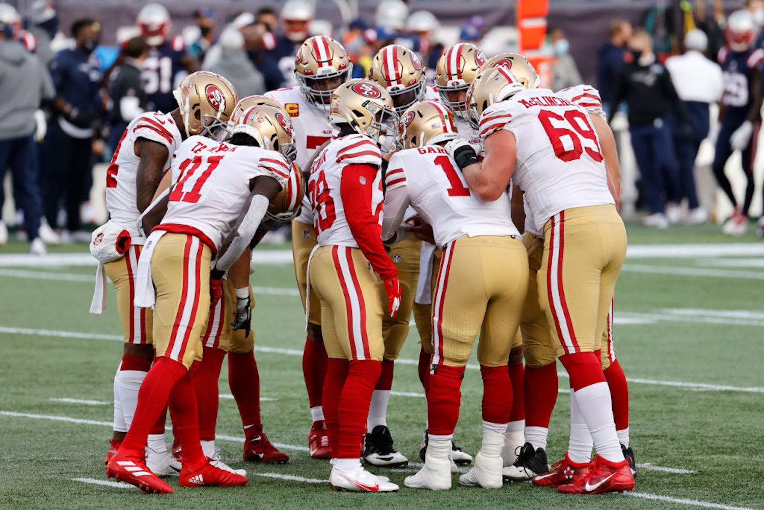 The San Francisco 49ers have been brutalized by injuries and COVID-19 this season. Who will even be suiting up against the Packers tonight?
