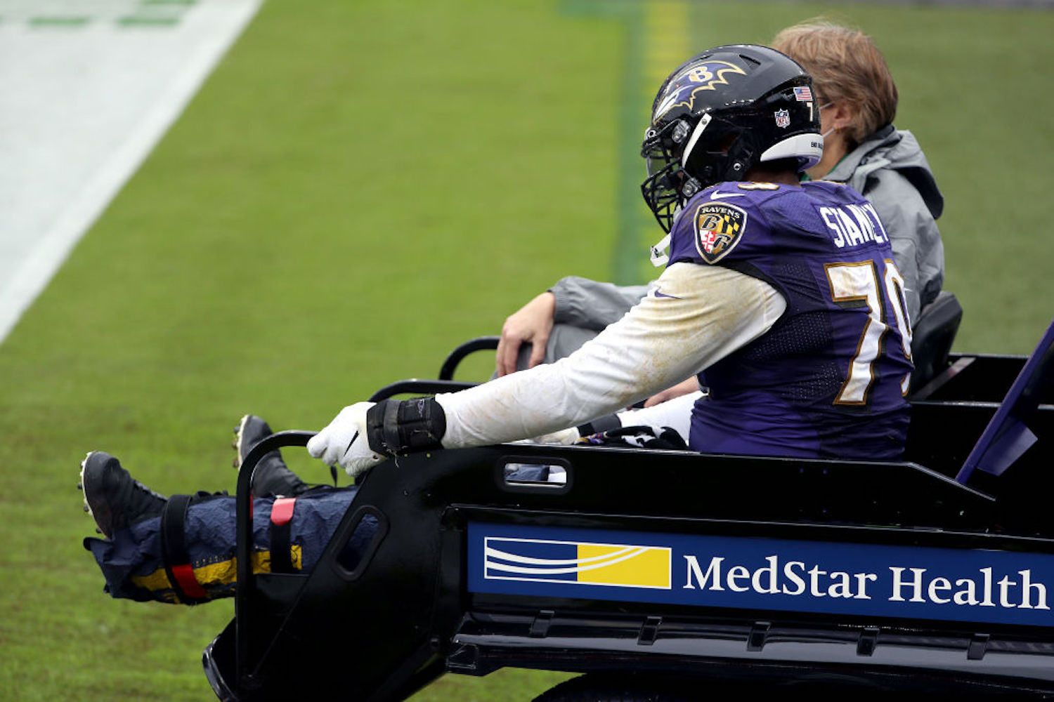 Ronnie Stanley signed a $98.75 million contract extension with the Ravens on Friday and suffered a devastating ankle injury two days later.