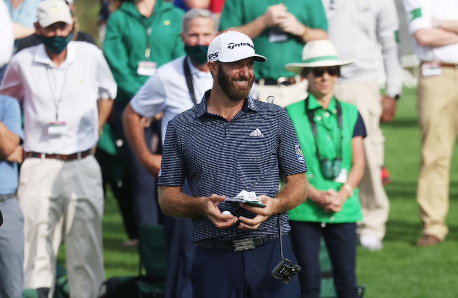 Dustin Johnson won the 2020 Masters Tournament for his first green jacket, and he accomplished something never done before in the process.