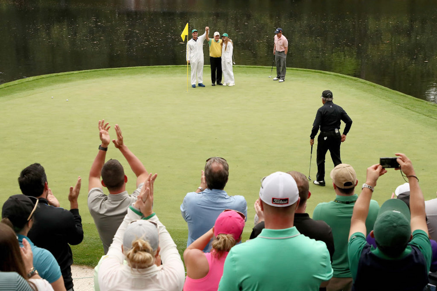 Jack Nicklaus has a plethora of fond memories at The Masters, but his favorite actually occured during the par-3 contest with his grandson.