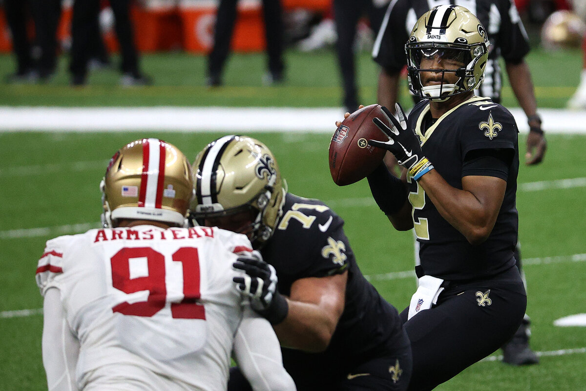 New Orleans Saints quarterback Jameis Winston saw his most action after replacing an injured Drew Brees in Week 10. Winston said he didn't fear taking over.