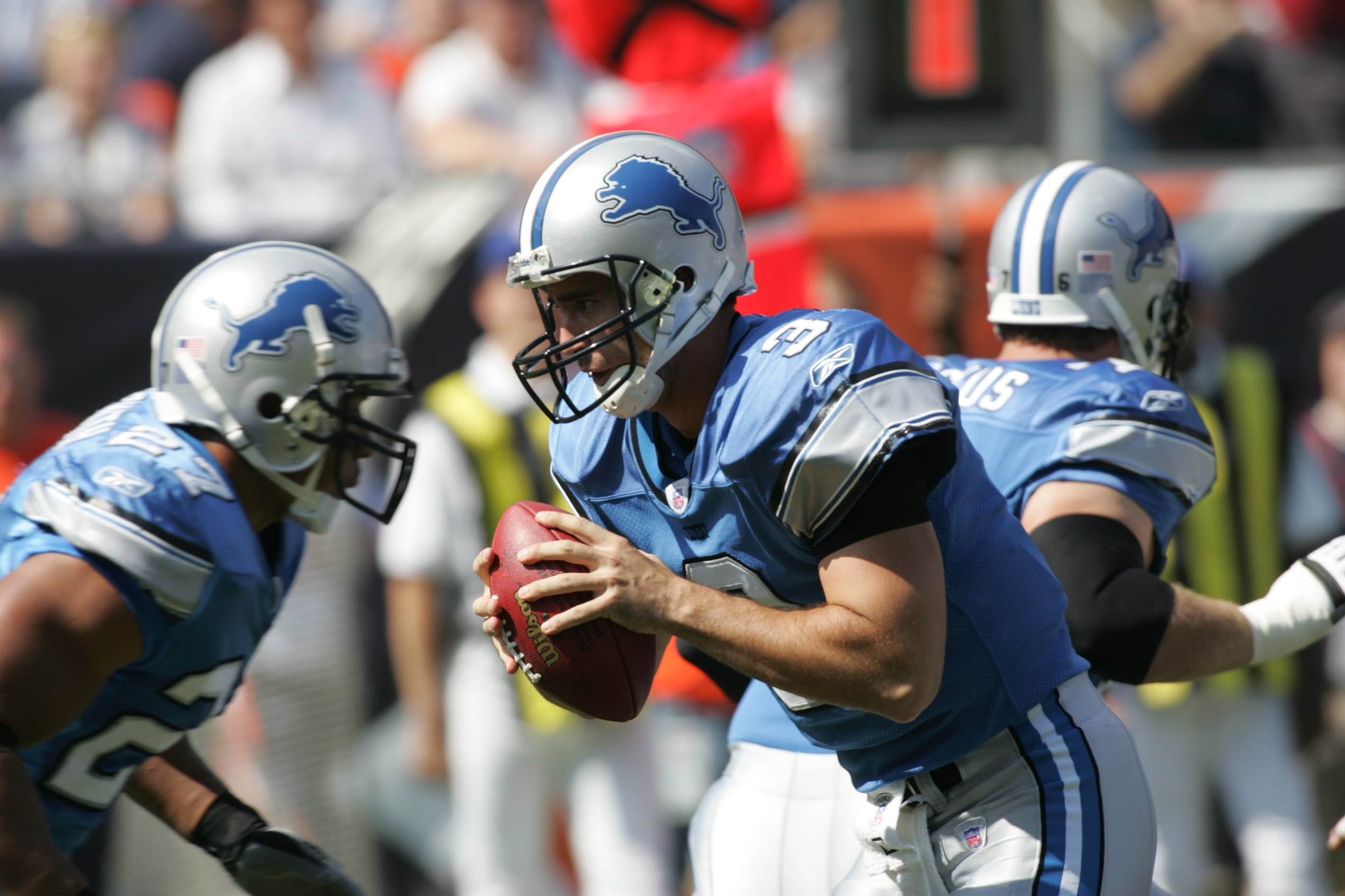 Joey Harrington was depressed when he was playing for the Detroit Lions.