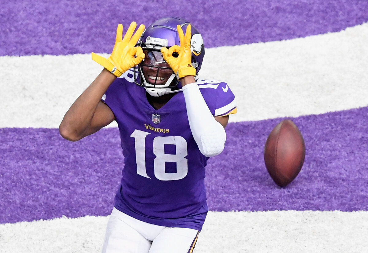 Minnesota Vikings rookie receiver Justin Jefferson is having a 2020 season to remember. Jefferson has become the Vikings' new Randy Moss.