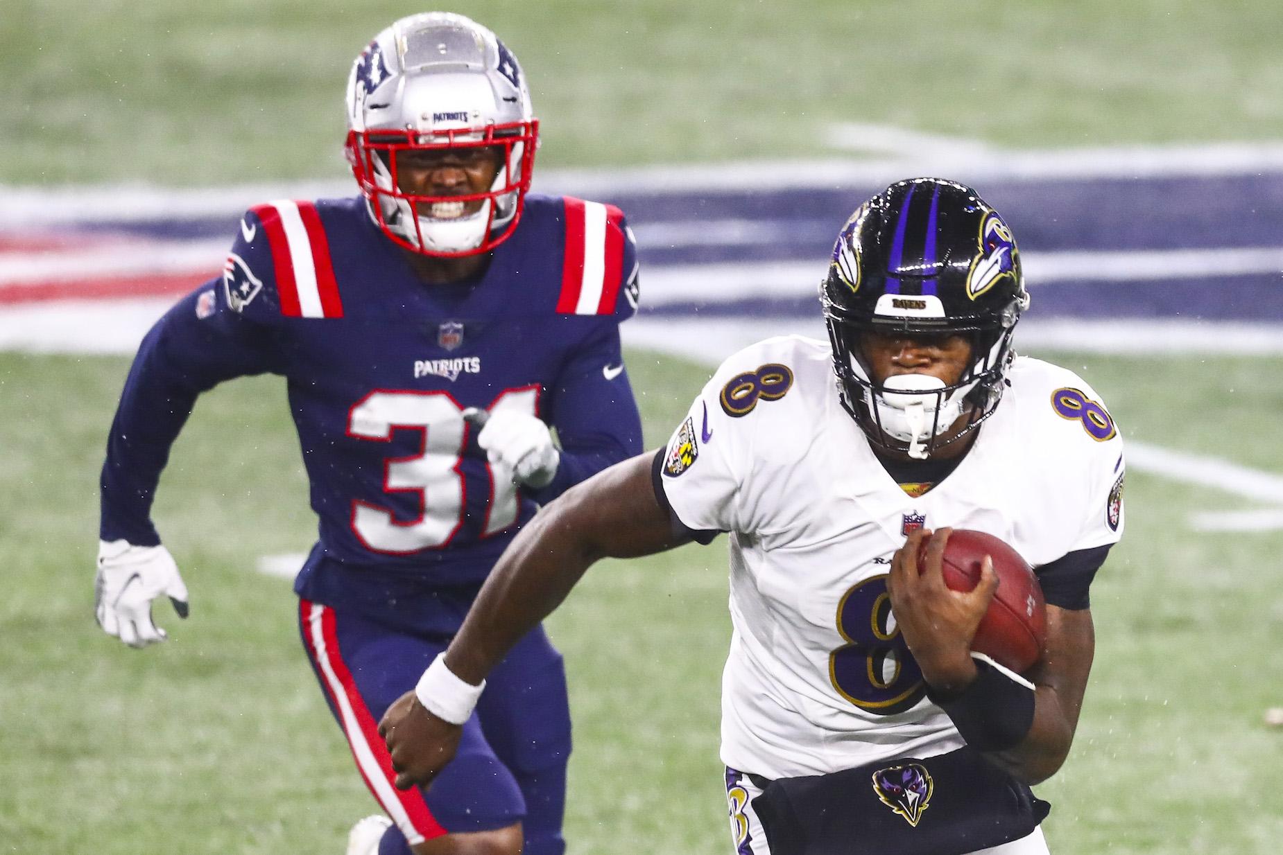 How fast is Baltimore Ravens quarterback Lamar Jackson?
