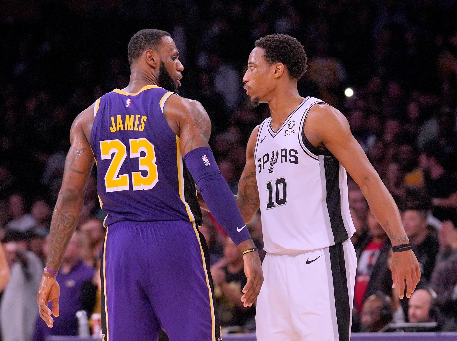 LeBron James DeMar DeRozan Lakers