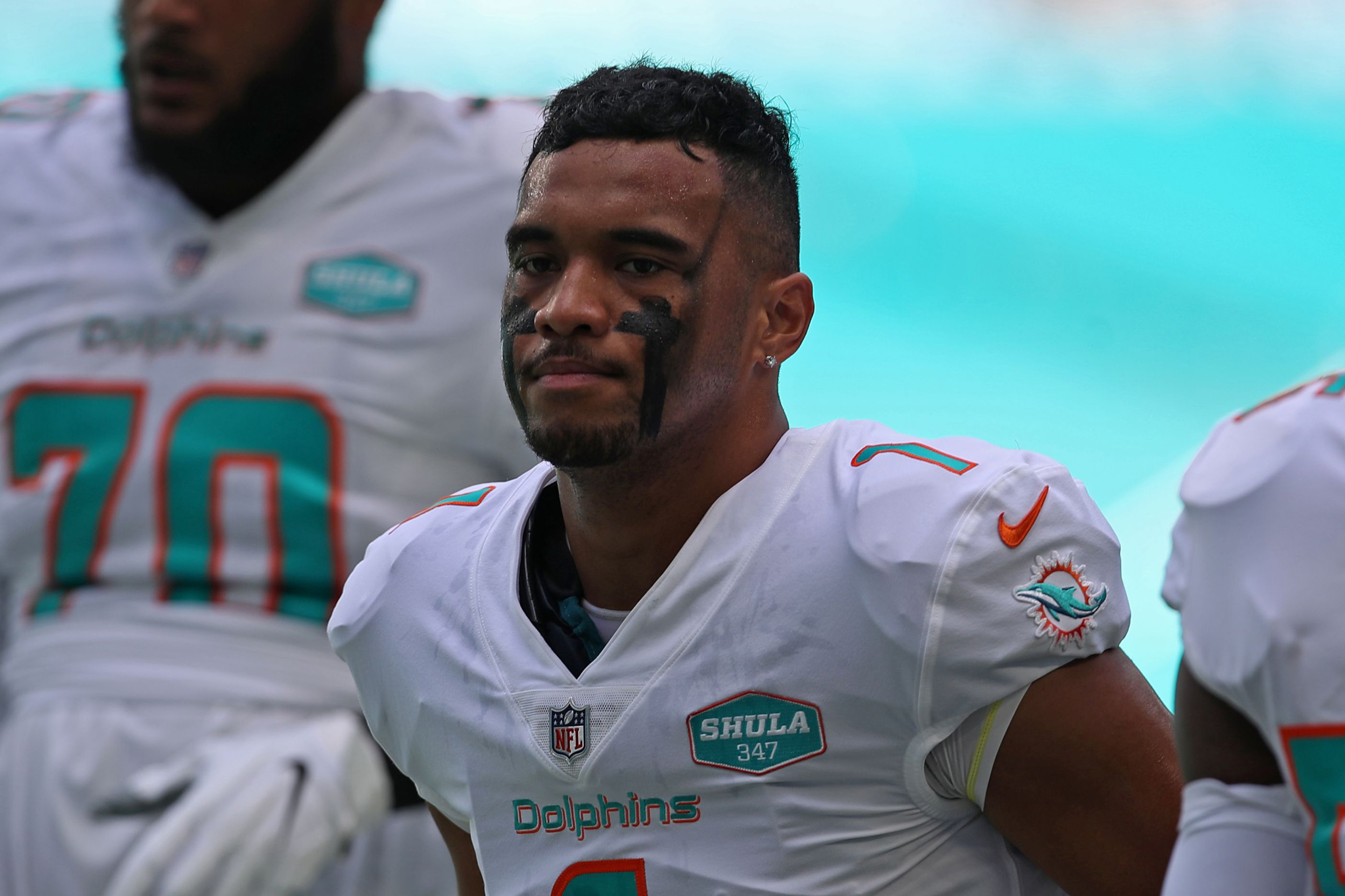 Miami Dolphins quarterback Tua Tagovailoa before a game