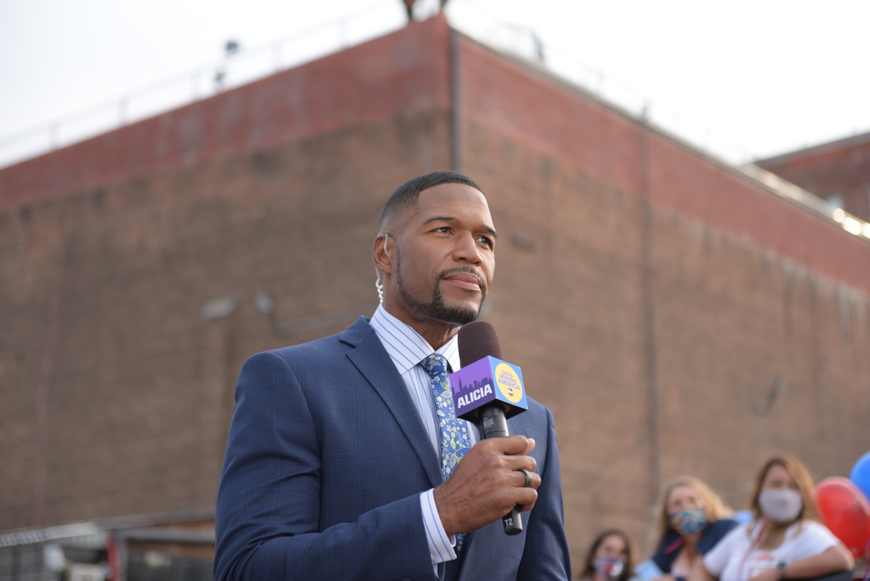 Michael Strahan hosts Good Morning America