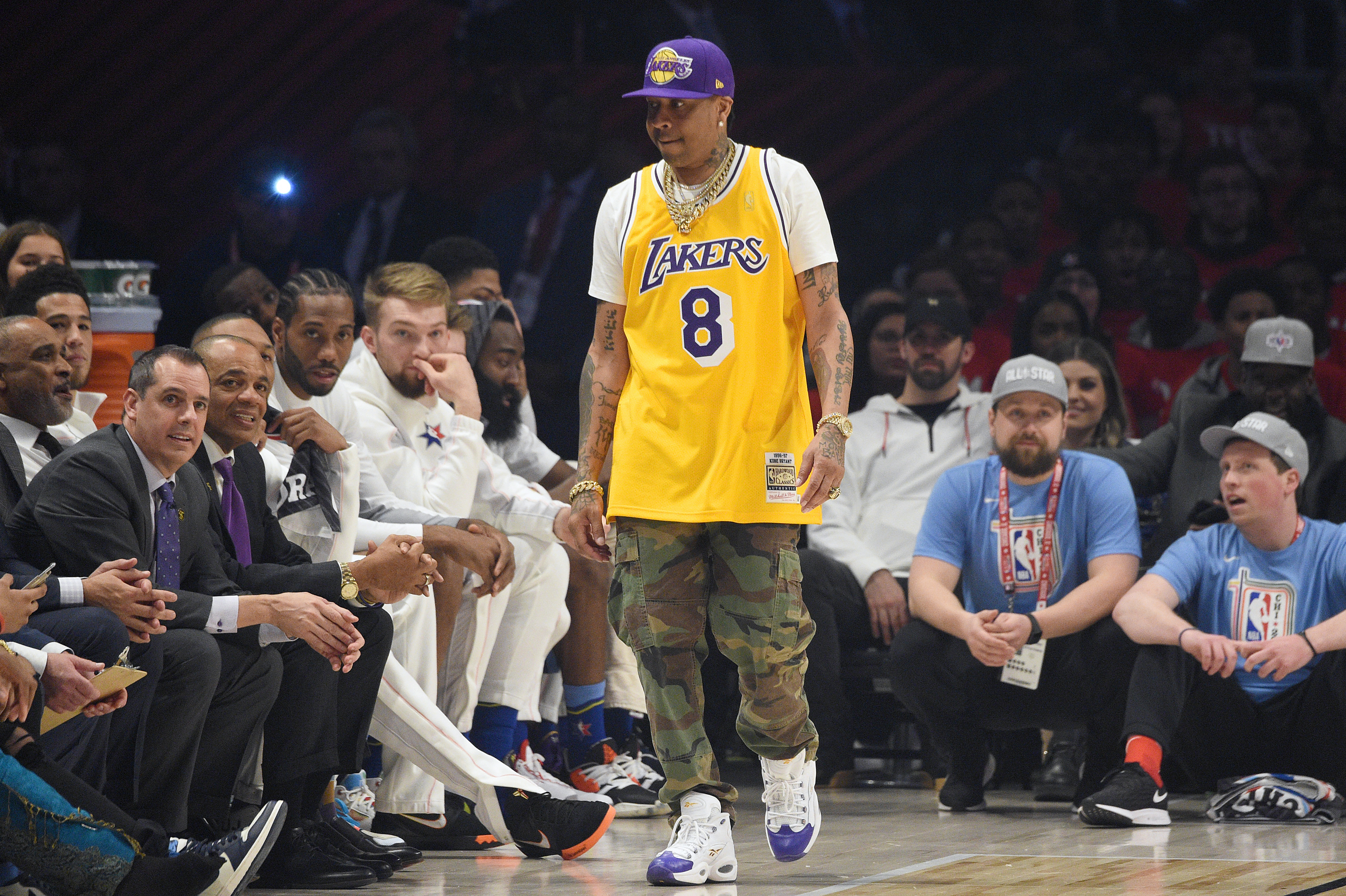 Allen Iverson attends the 2020 NBA All-Star Game