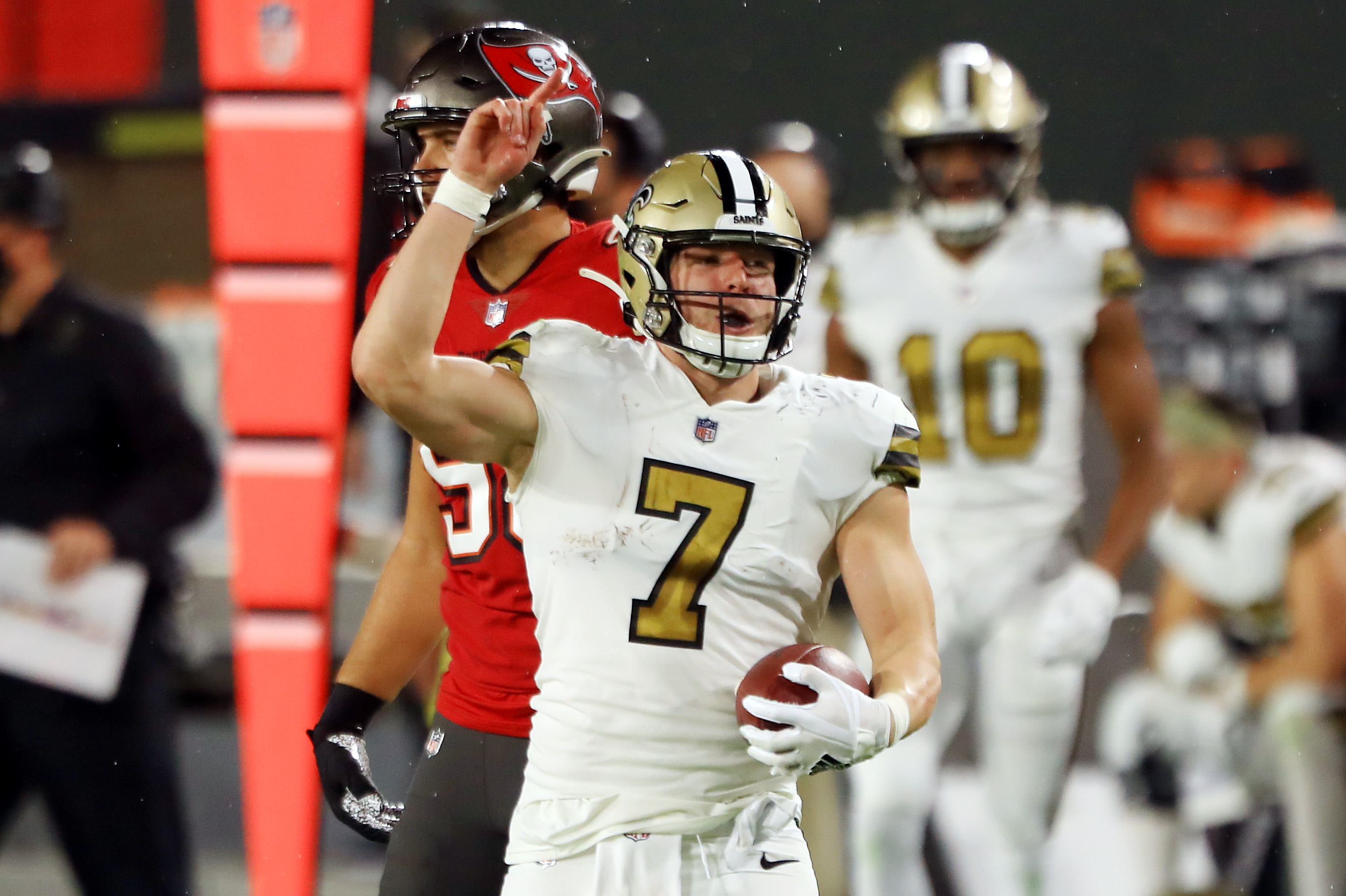 Why is Taysom Hill starting for the New Orleans Saints on Sunday?