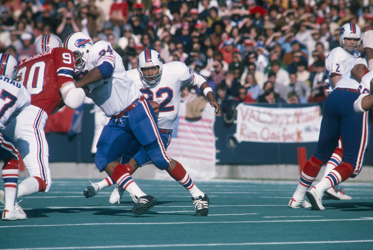 O.J. Simpson was must-see TV during his playing days. Simpson ran for a then-single-game record 273 yards in a 27-14 loss to the Detroit Lions. The dynamic running back held the previous record at 250, a total he reached in 1973.