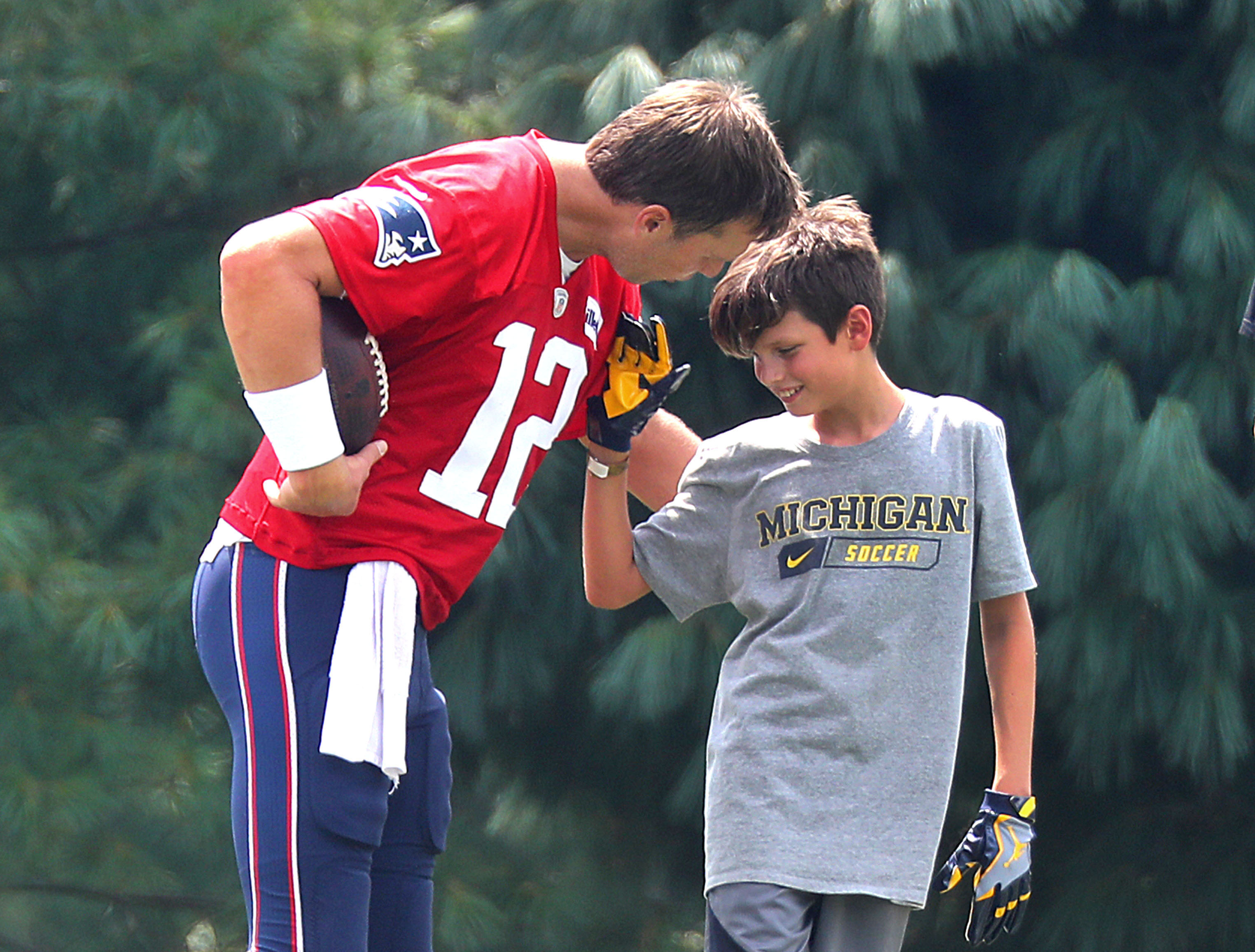 Tom Brady and his oldest son, Jack