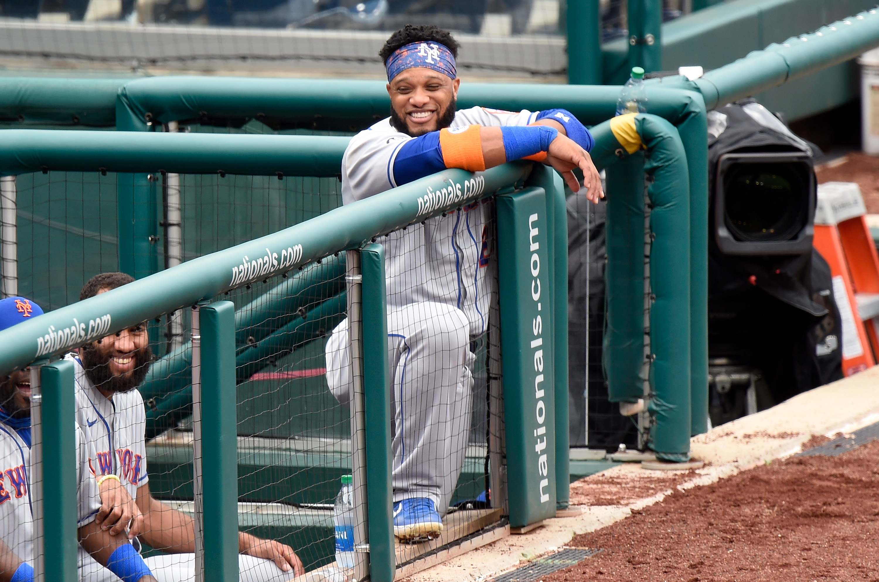 Robinson Cano of the New York Mets watches a 2020 game