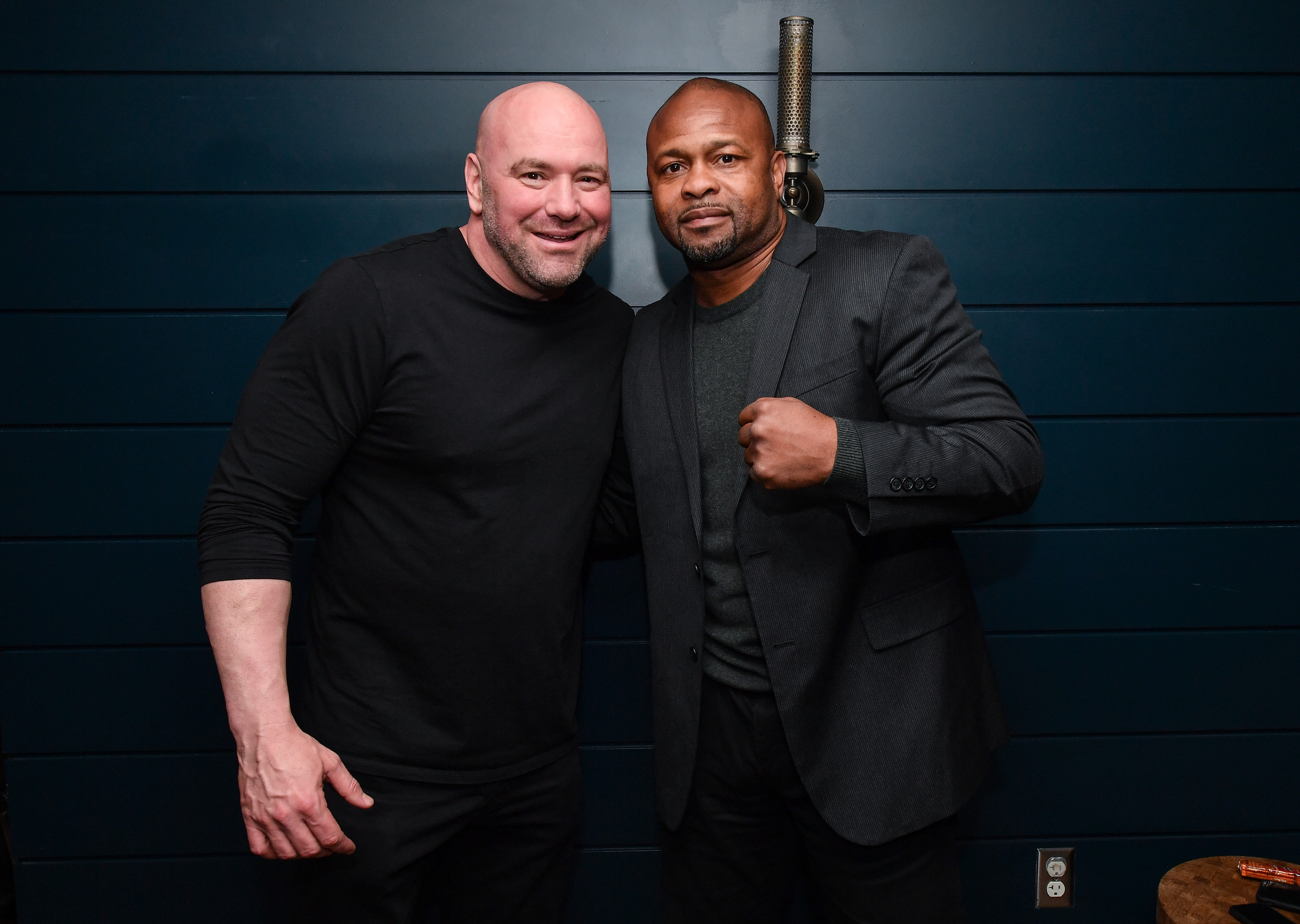 UFC President Dana White and Roy Jones Jr.