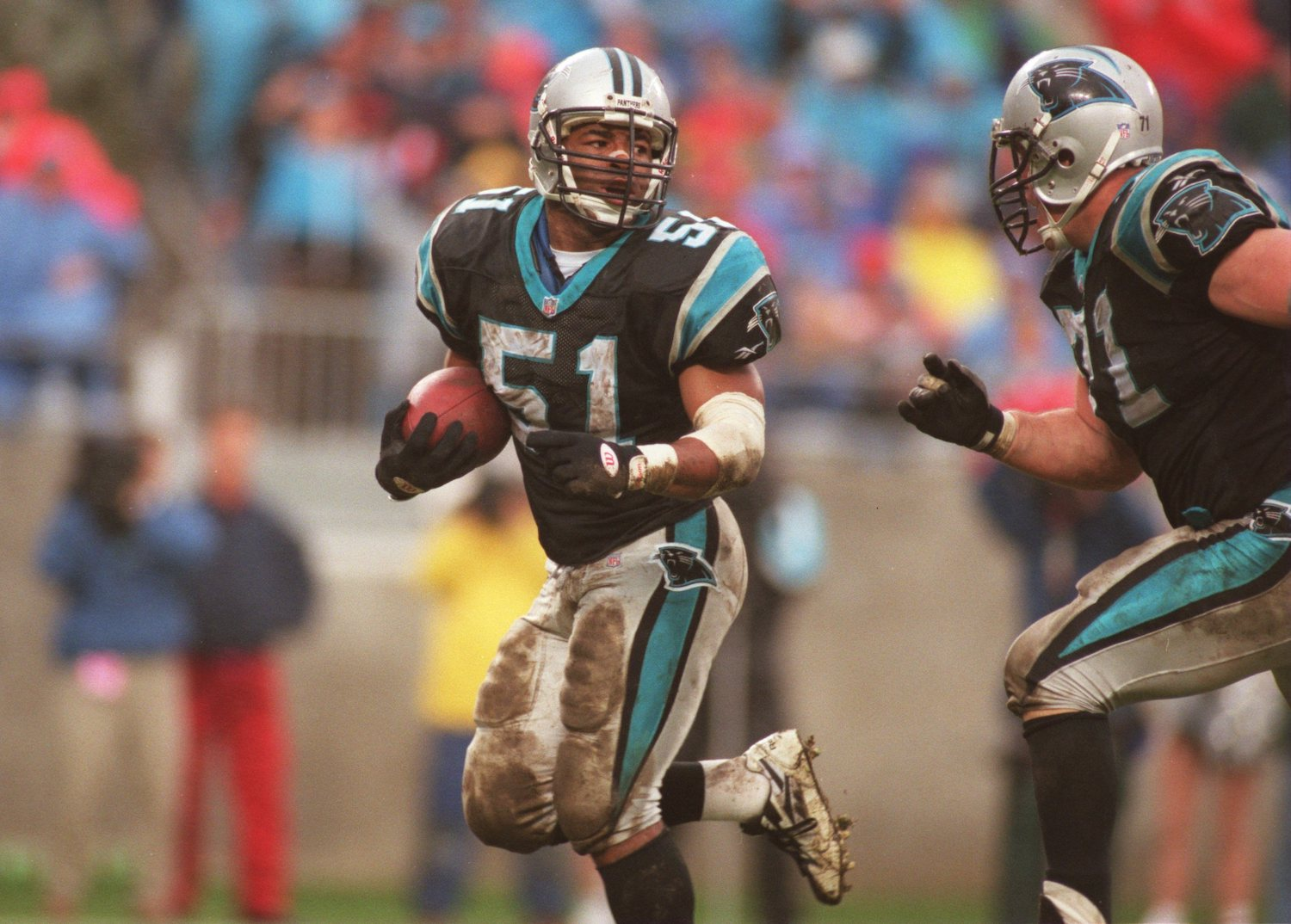 Sam Mills of the Carolina Panthers