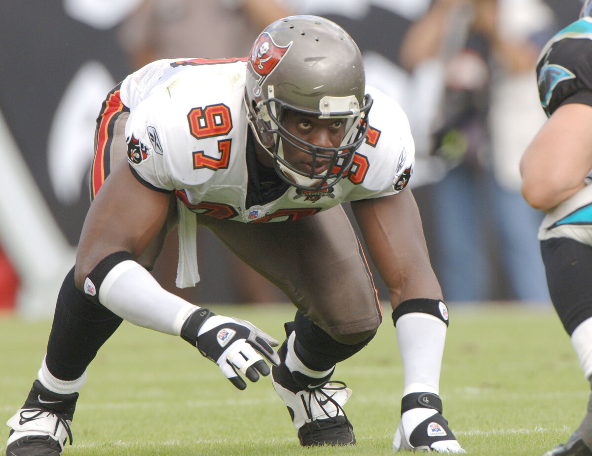 Simeon Rice is a Tampa Bay Buccaneers legend and was an elite pass-rusher in his prime. Rice became an independent filmmaker after he retired.