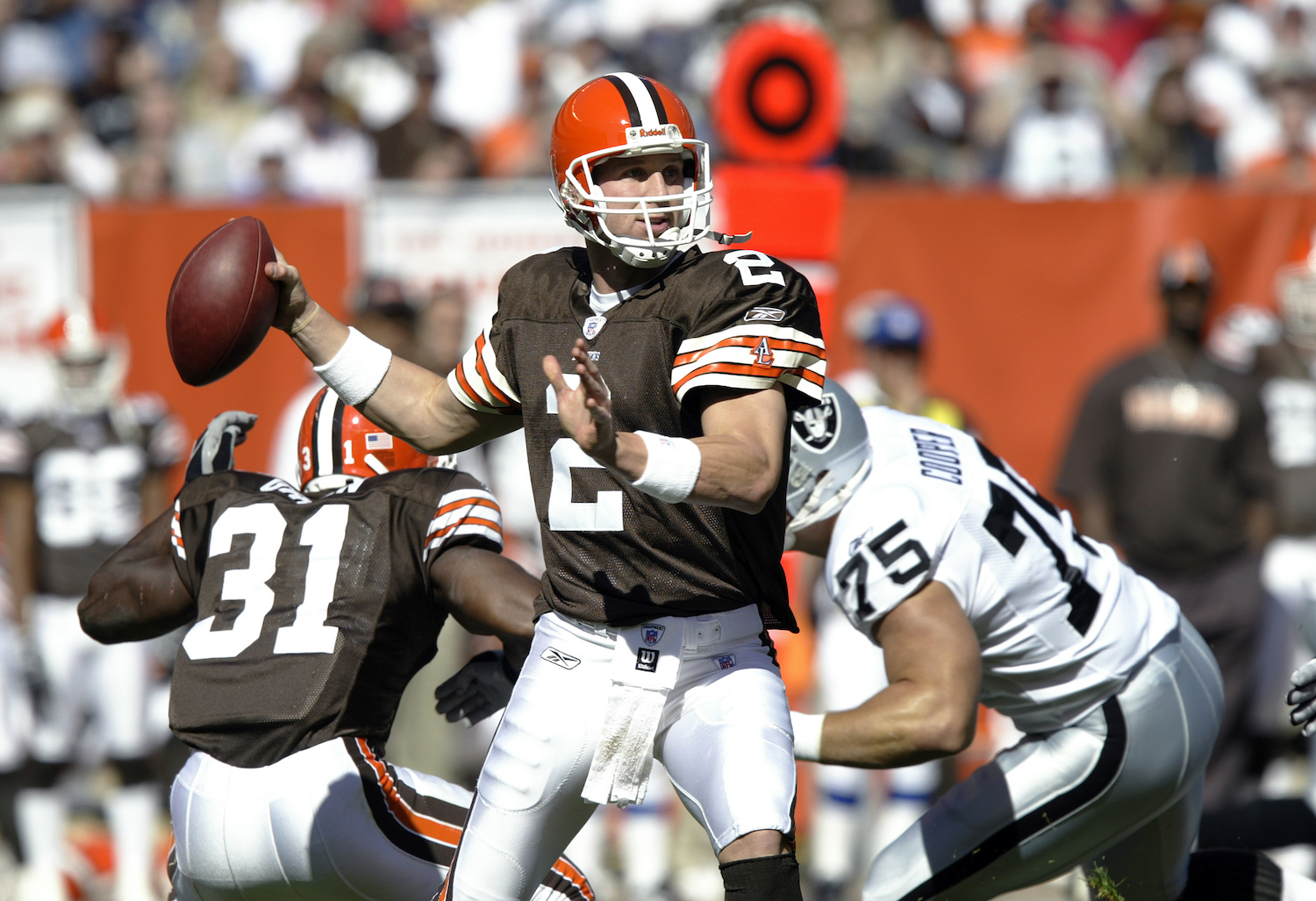 Quarterback Tim Couch of the Cleveland Browns