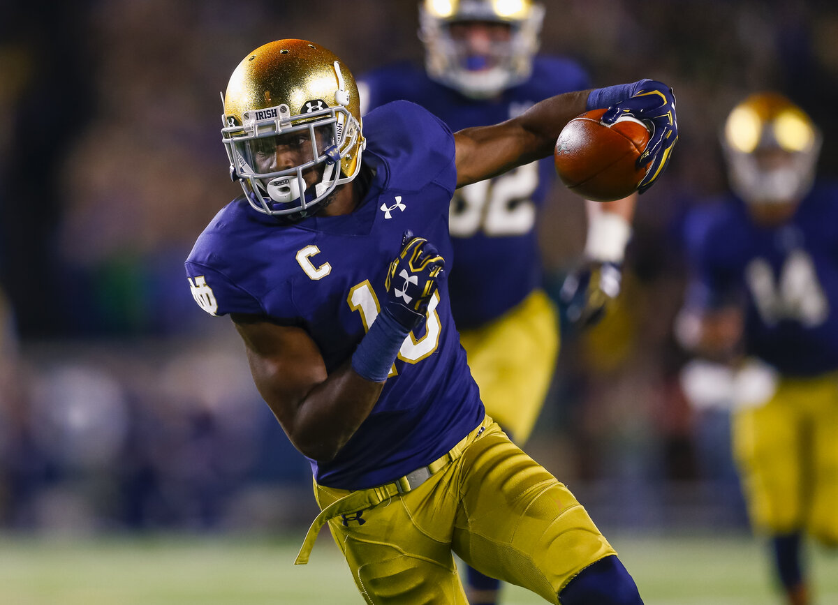 Former Notre Dame wide receiver Torii Hunter Jr. is the son of Minnesota Twins legend Torii Hunter. The son now plays minor league baseball.