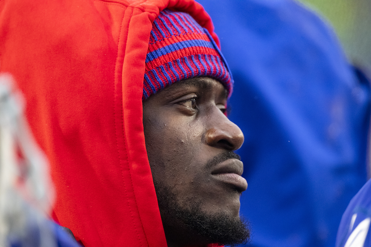 Tre'Davious White of the Buffalo Bills stands on the sideline