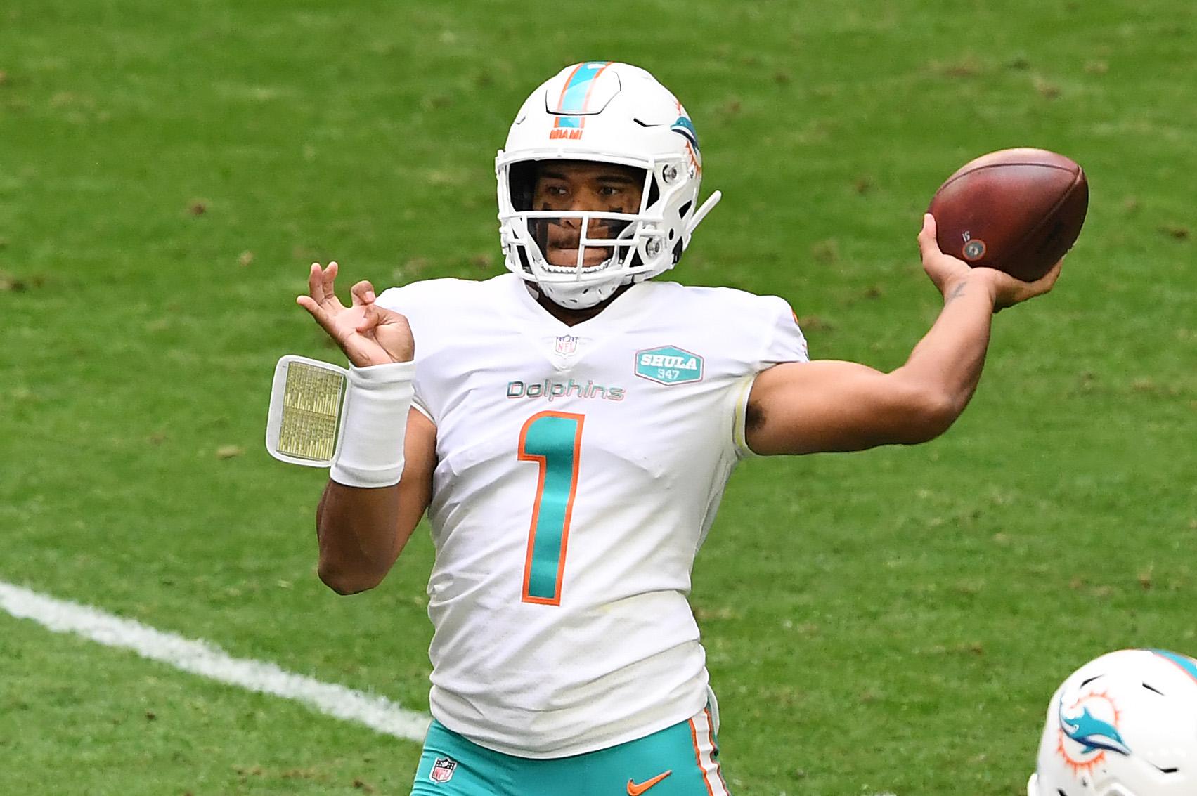 Miami Dolphins' Tua Tagovailoa