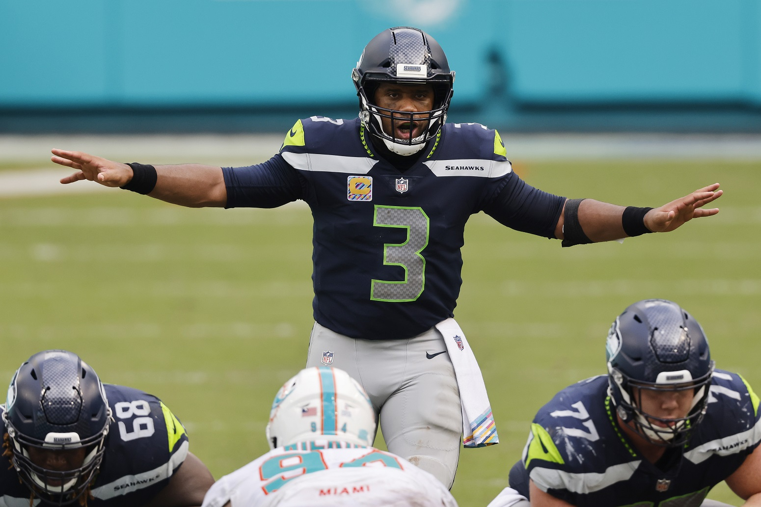 why Russell Wilson wears number 3