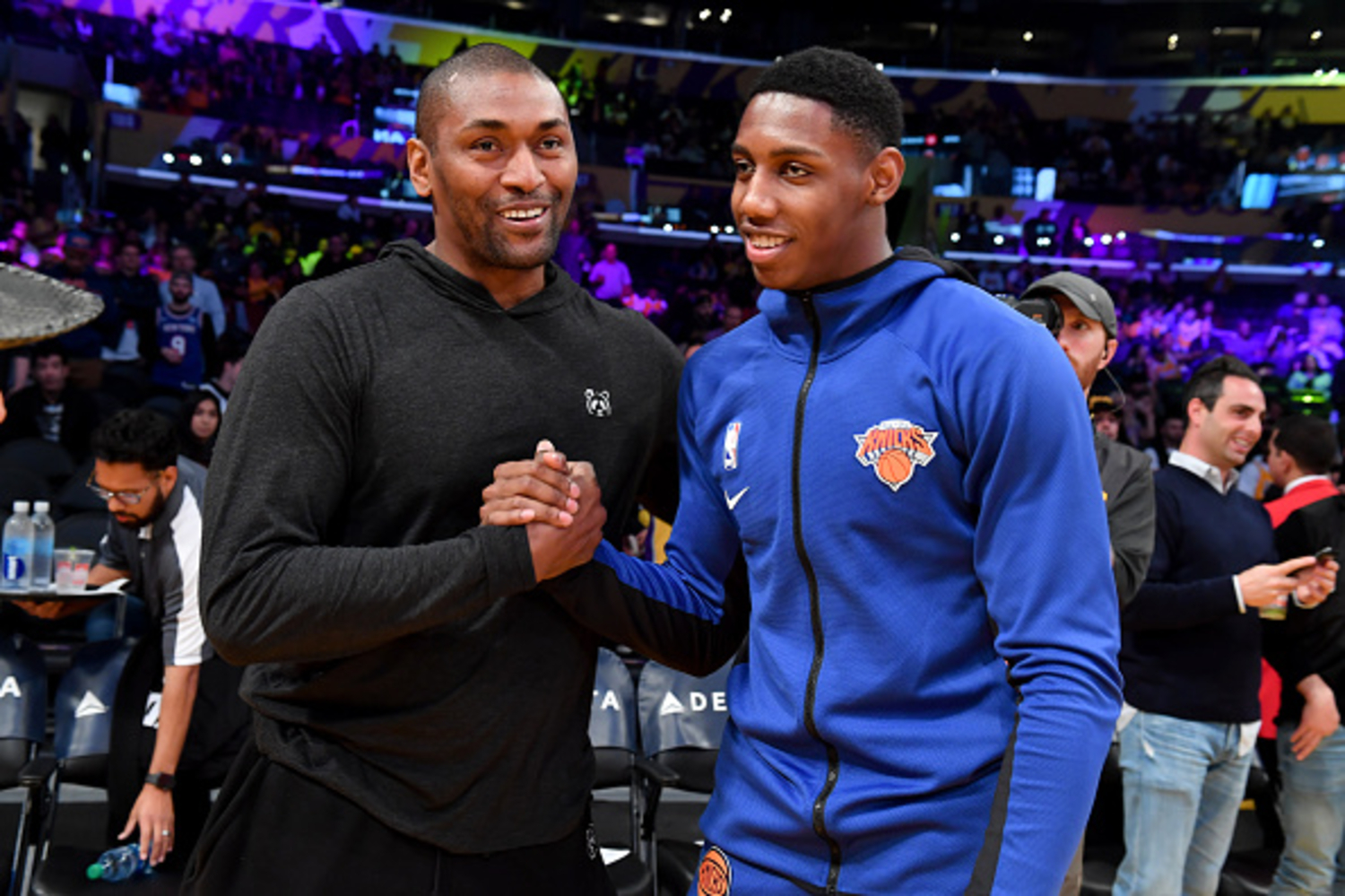 Metta World Peace was drafted by the Chicago Bulls but wanted to go to the New York Knicks