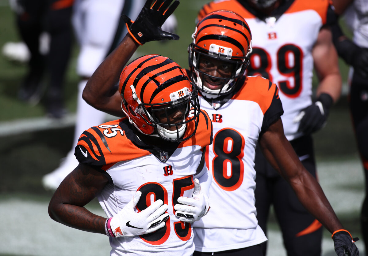 Tee Higgins modeled his game growing up after Cincinnati Bengals star receiver A.J. Green. Higgins has spent his rookie season thriving alongside Green.
