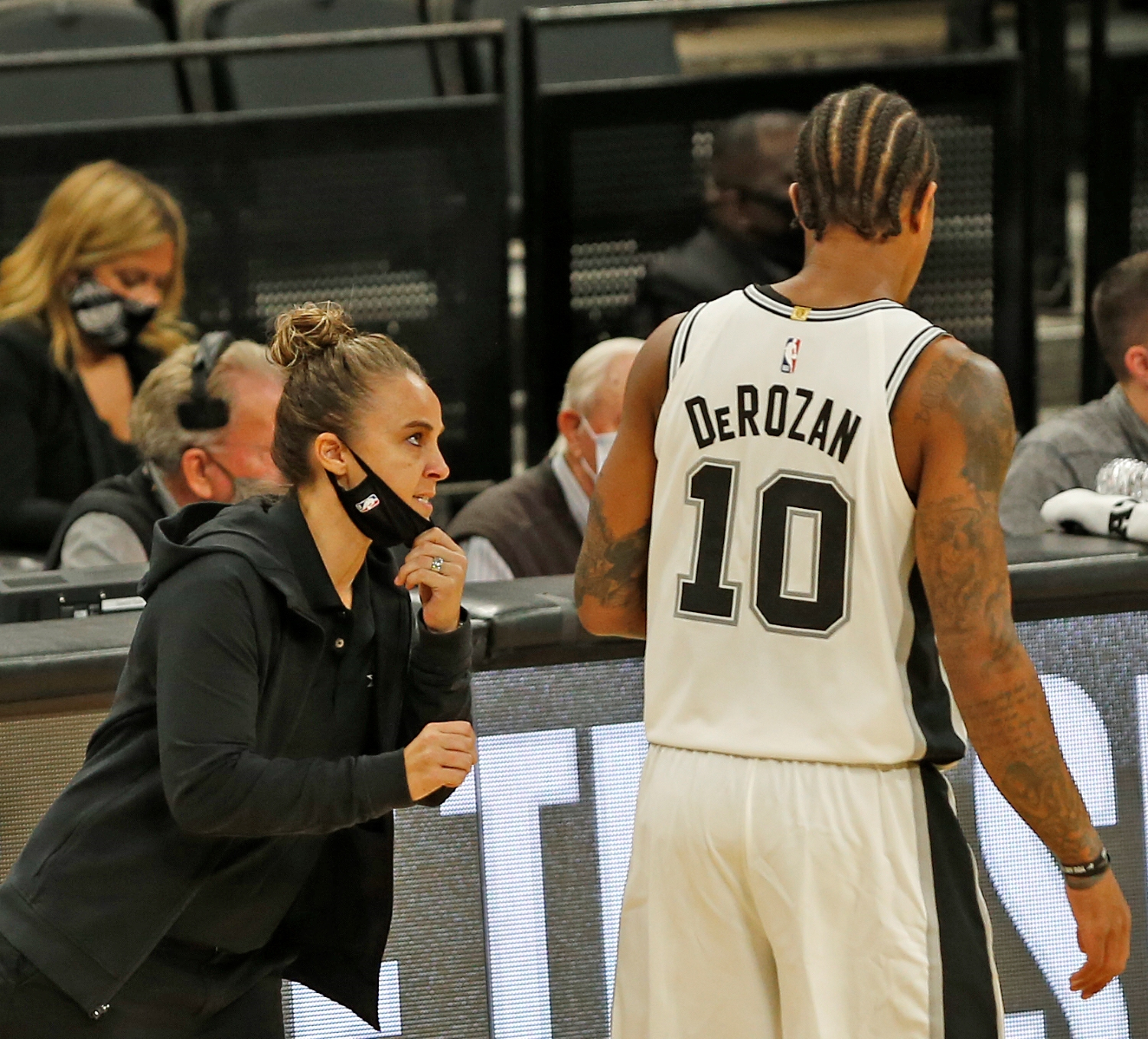 Becky Hammon took over for Greg Popovich after he was ejected in Wednesday's game, making NBA history in the process.