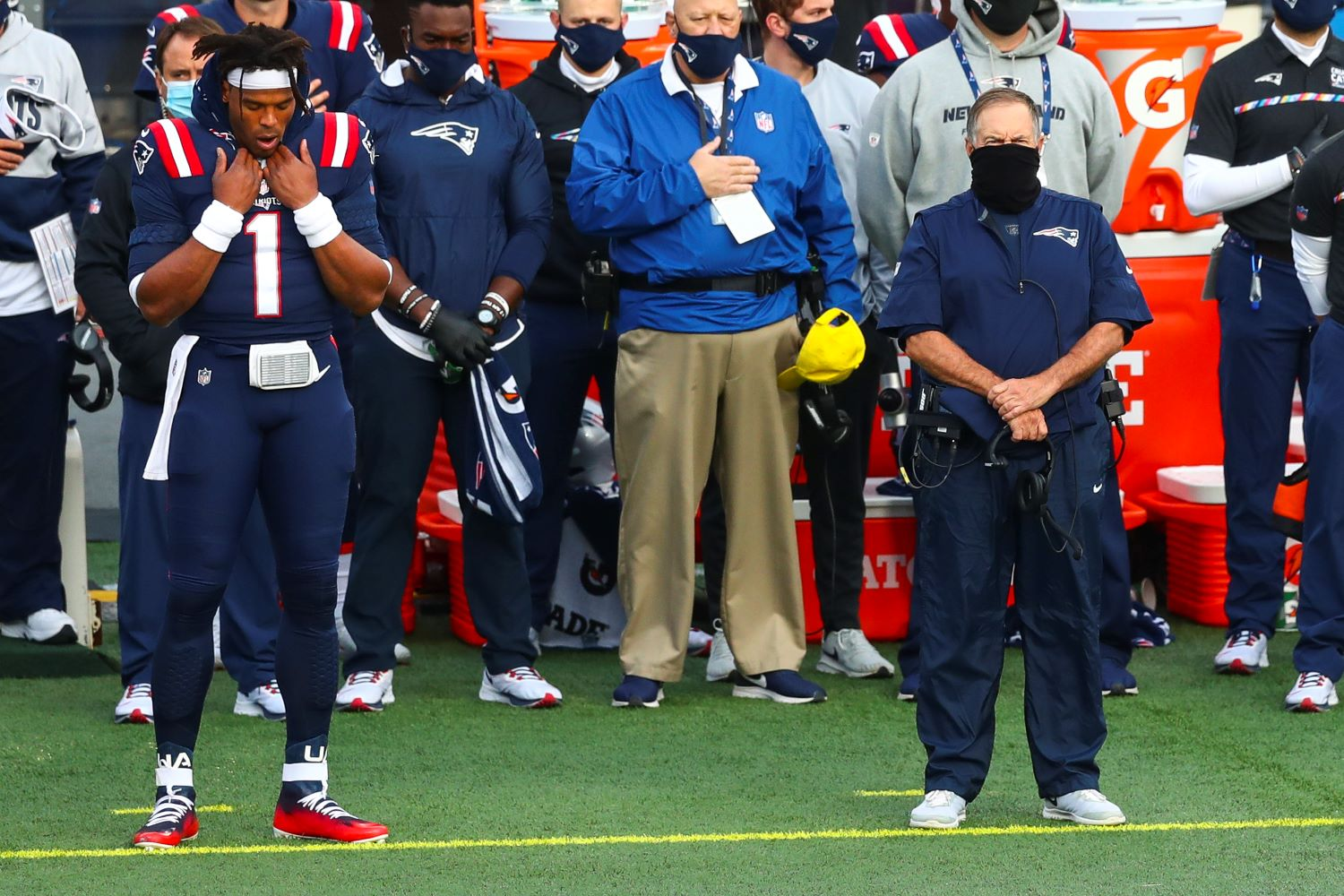 After watching Cam Newton struggle against the LA Rams, Bill Belichick left no doubt about his future as the Patriots' starting quarterback.