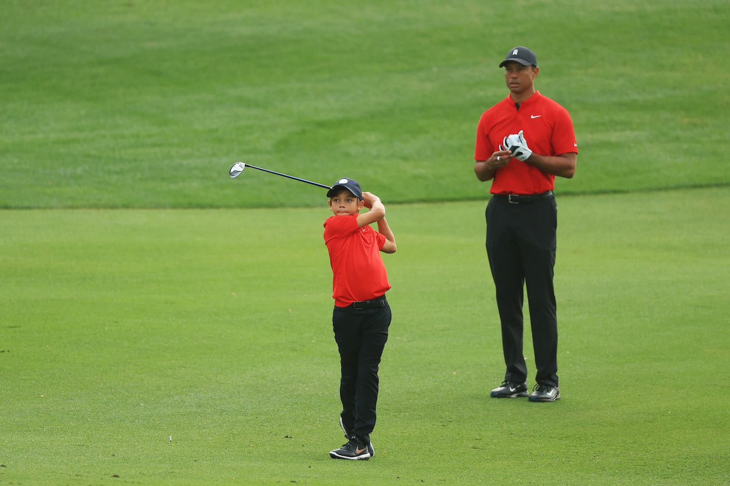 Tiger Woods and son Charlie Woods