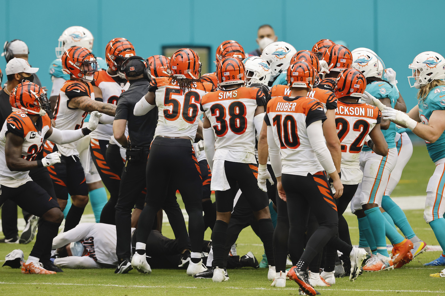 Cincinnati Bengals and the Miami Dolphins